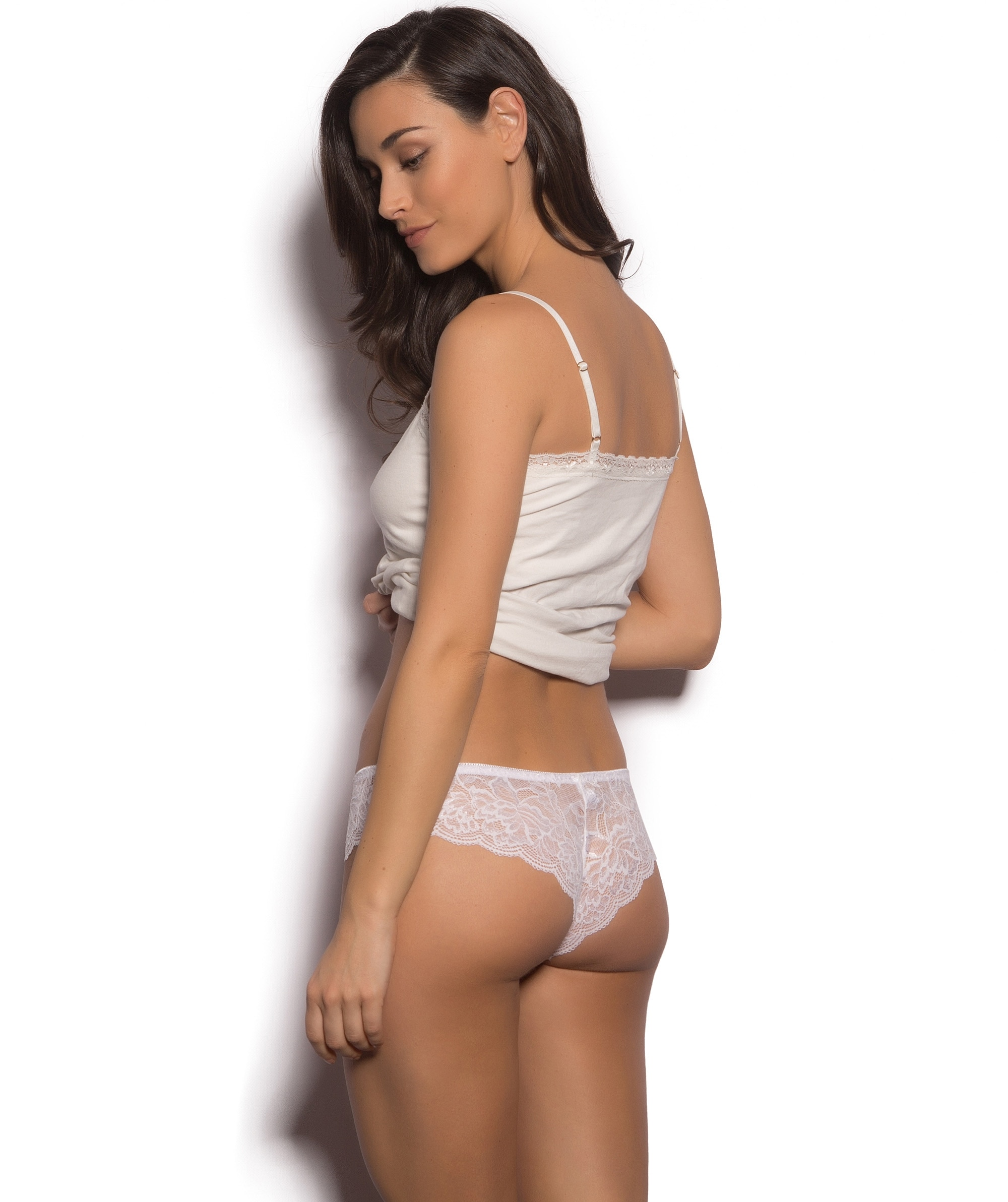 Romance Brazilian Knicker - Ivory