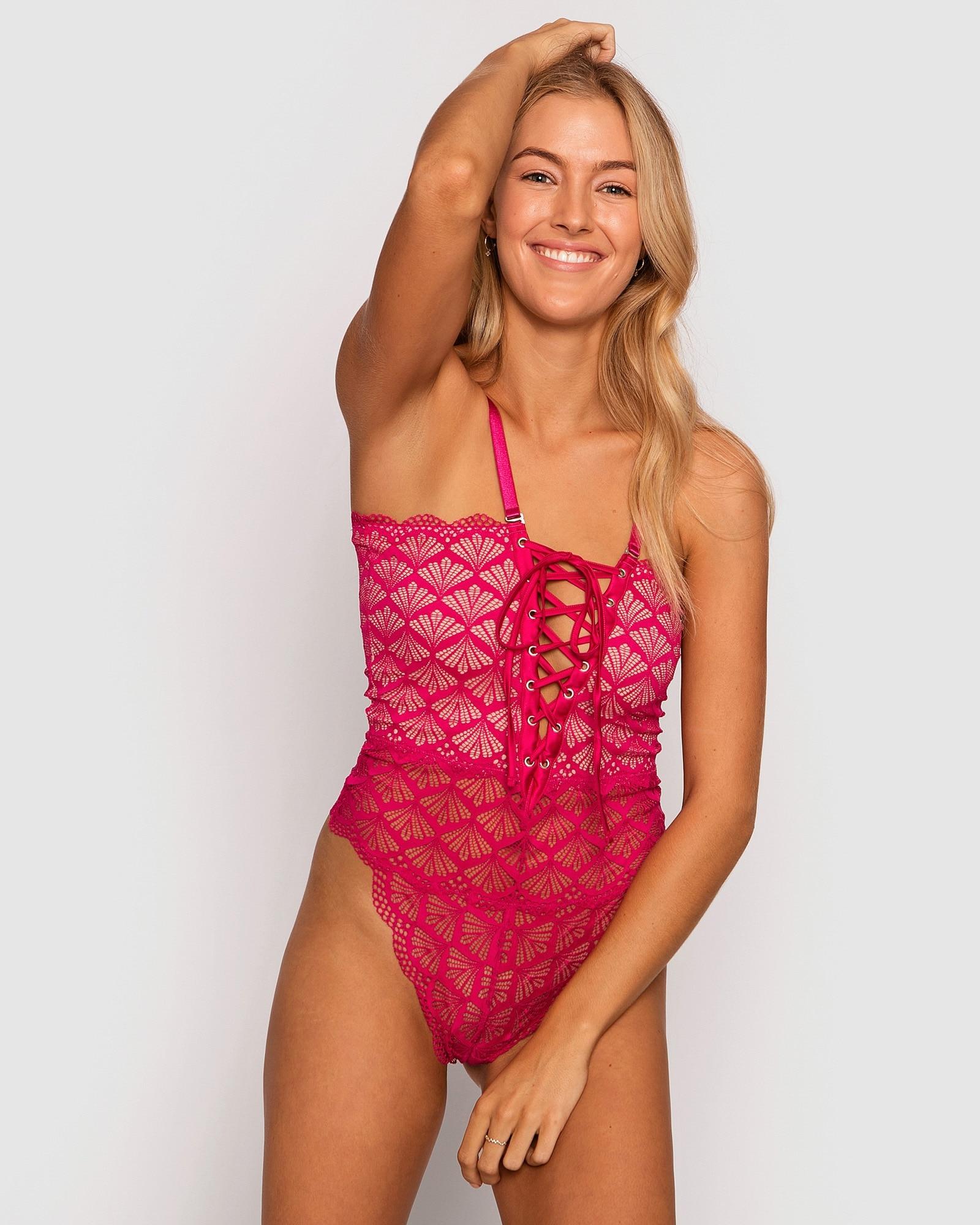 Sophia Bodysuit - Dark Pink
