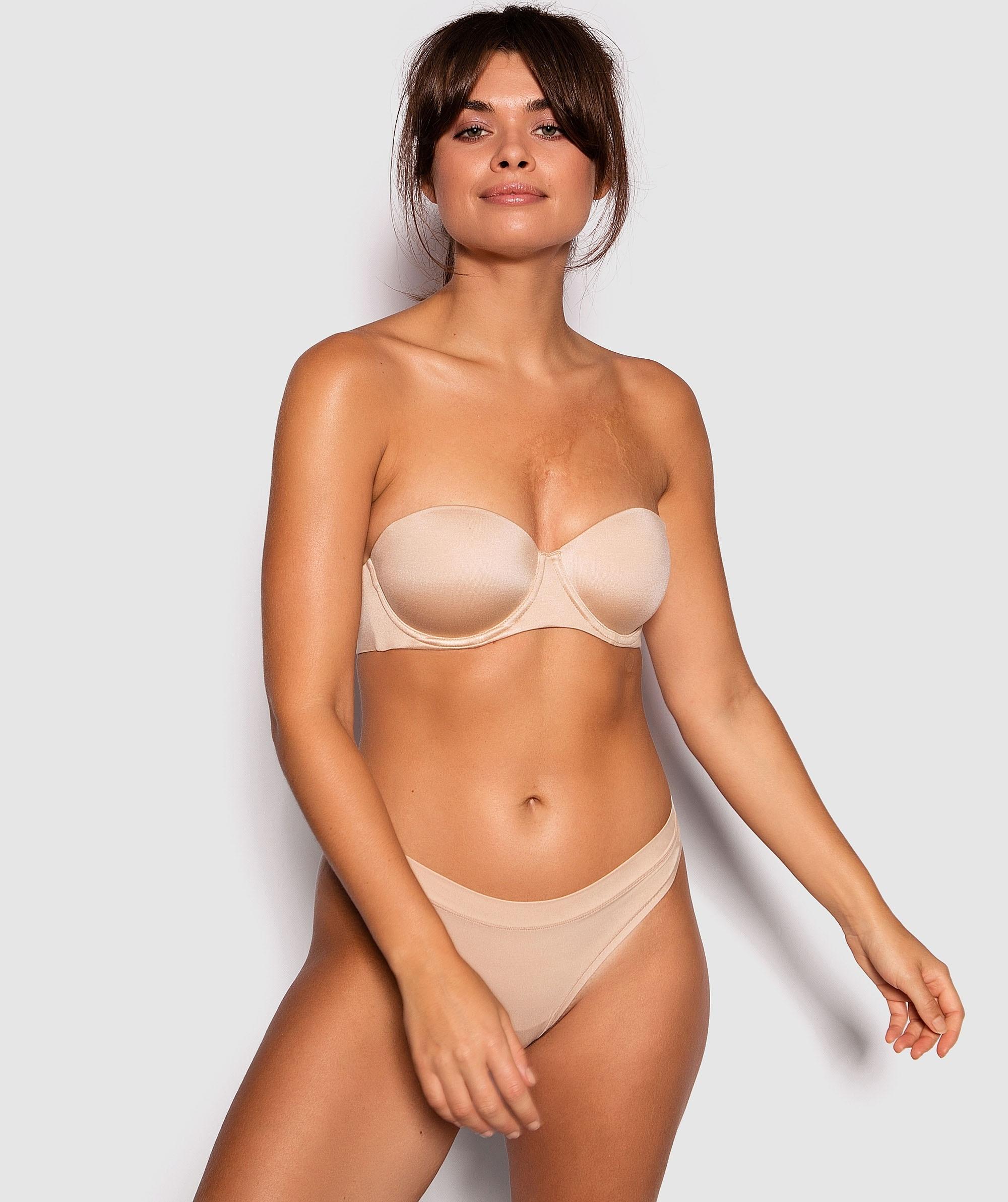 Body Bliss 2nd Gen Strapless Contour Bra - Nude