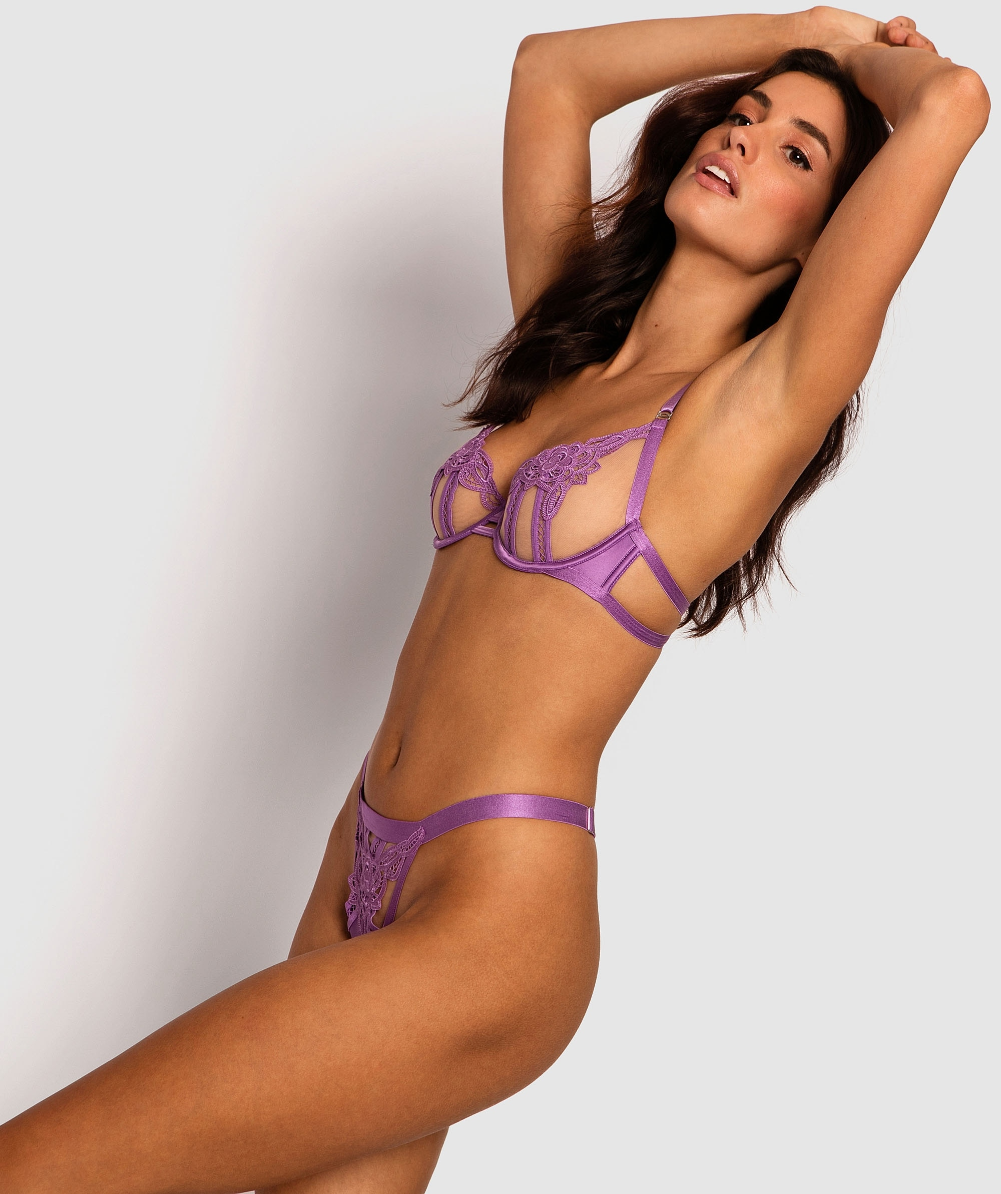 Tabitha Mini V Knicker - Purple