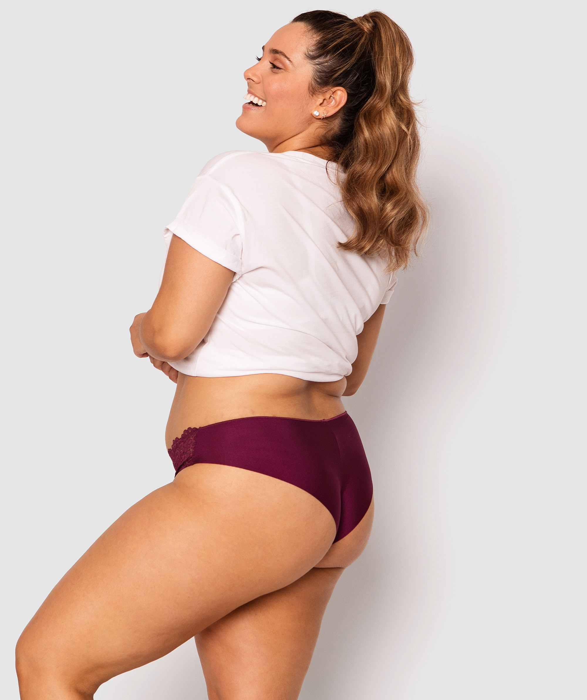 Audrey Brazilian Knicker - Berry