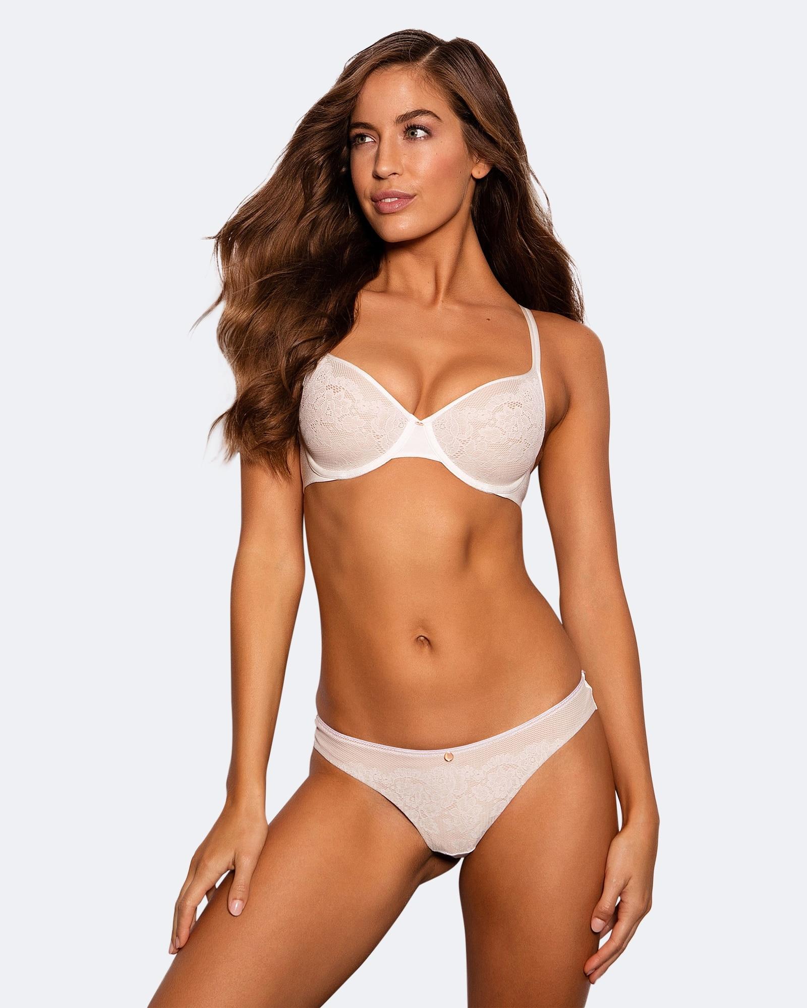 Pure Body Lace Contour Bra - Ivory