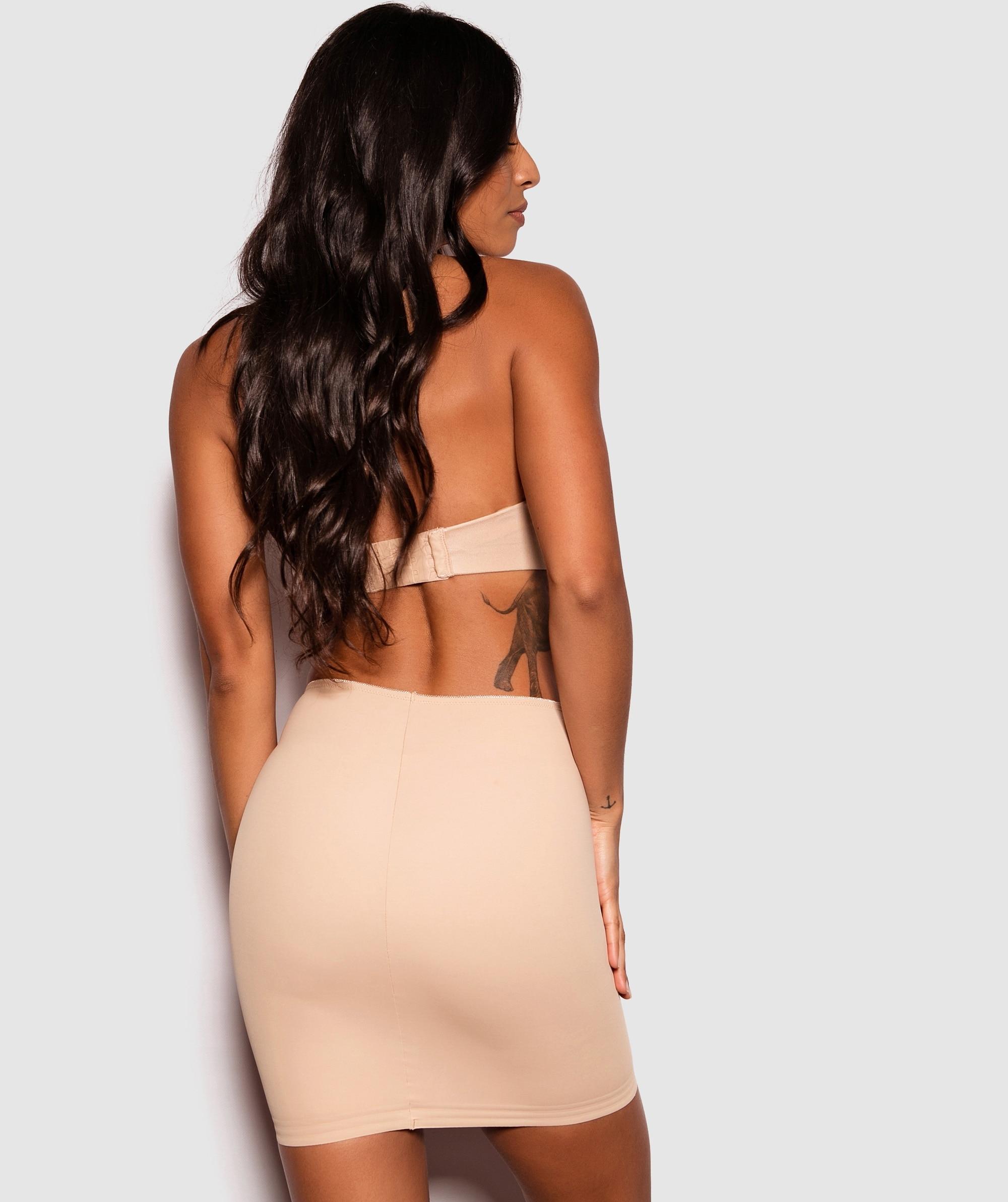 Microfibre Skirt - Nude