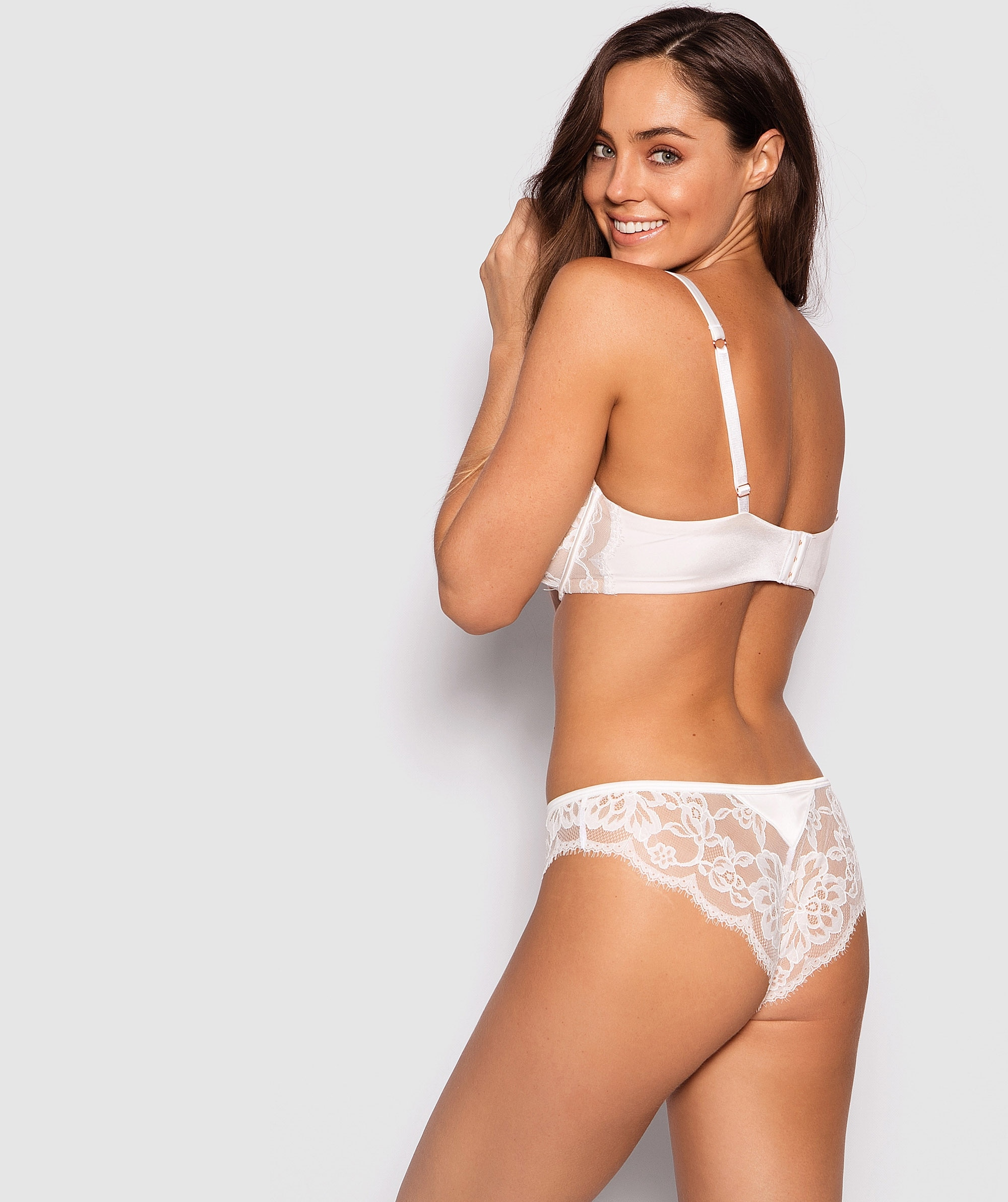 Fashion X Comfort Brazilian Knicker - Ivory/Nude