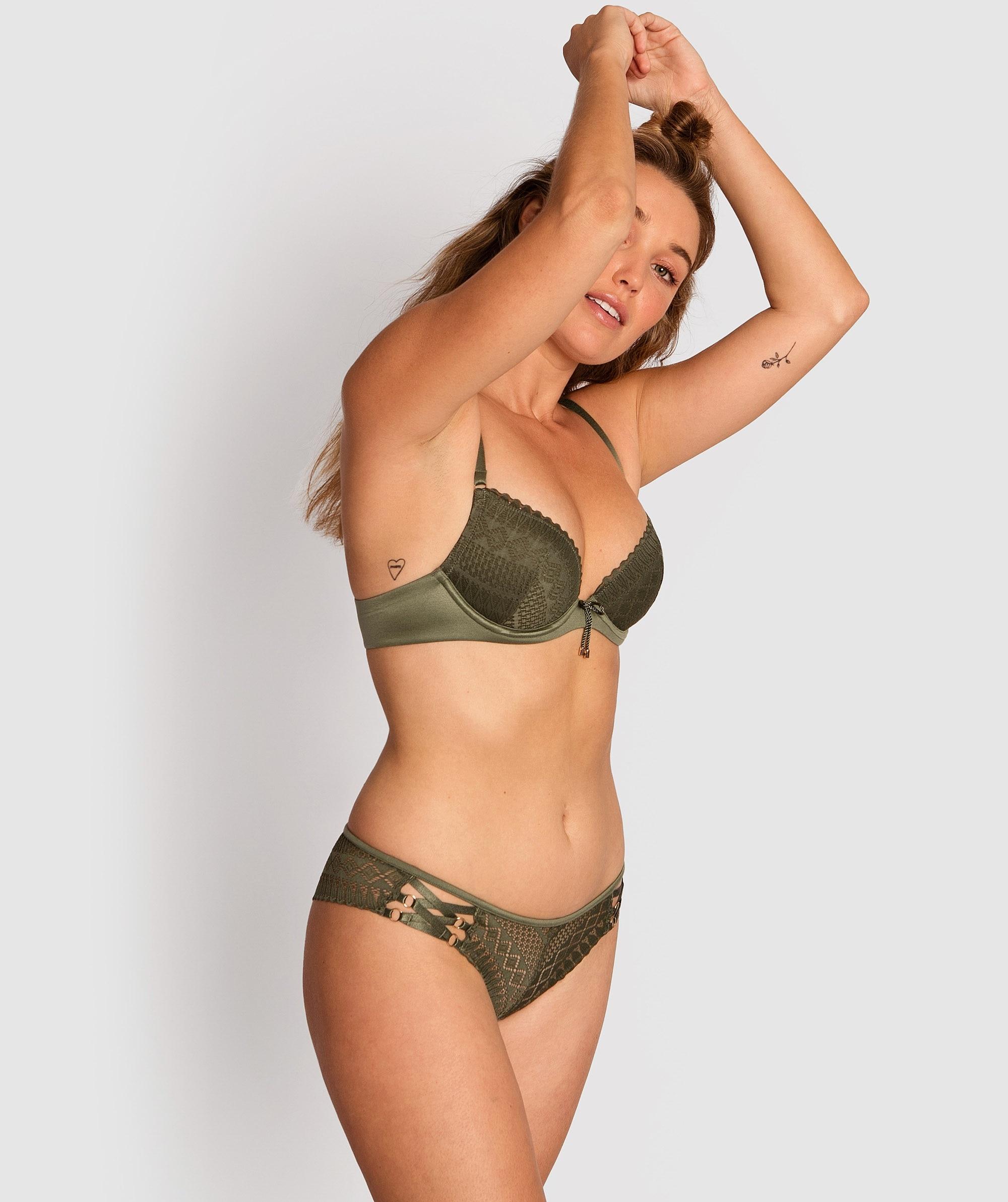 Phoebe Brazilian Knicker - Khaki