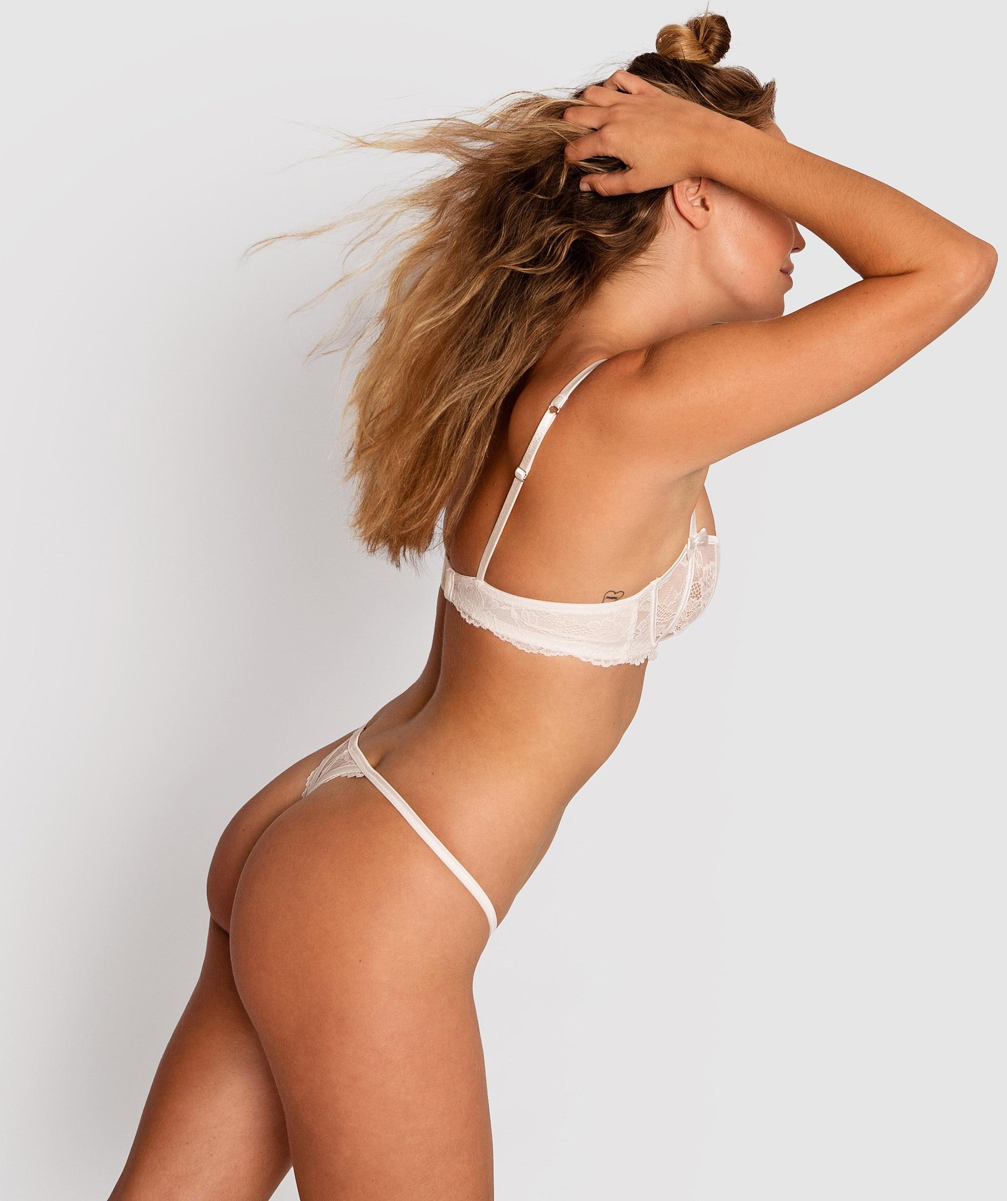 Bethany Mini V Knicker - Ivory