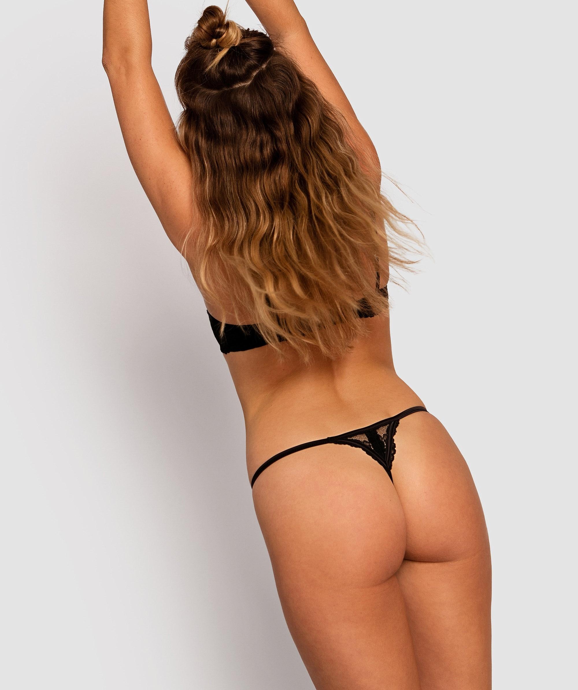 Bethany Mini V Knicker - Black