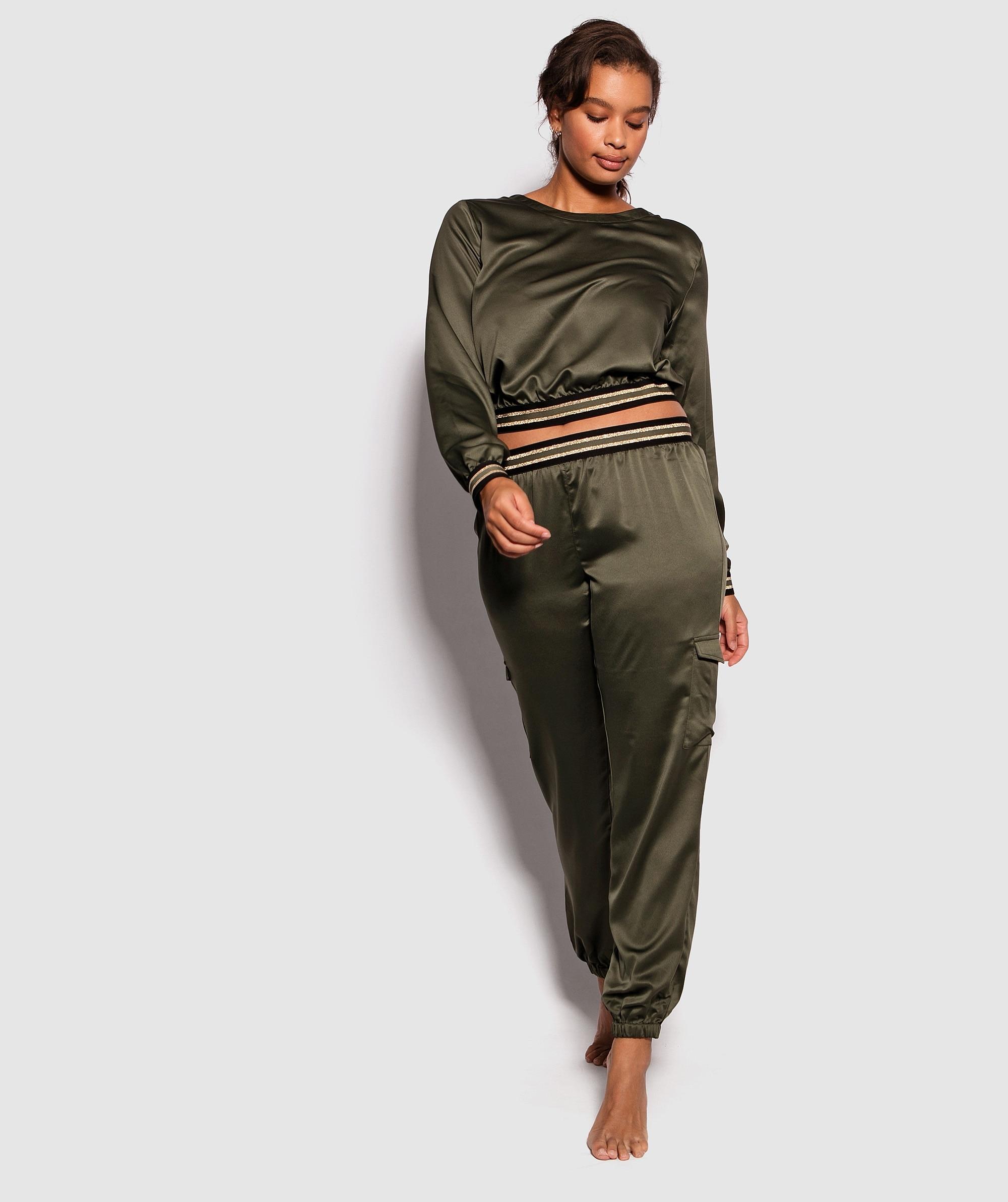 Oasis Long Sleeve Top - Dark Green