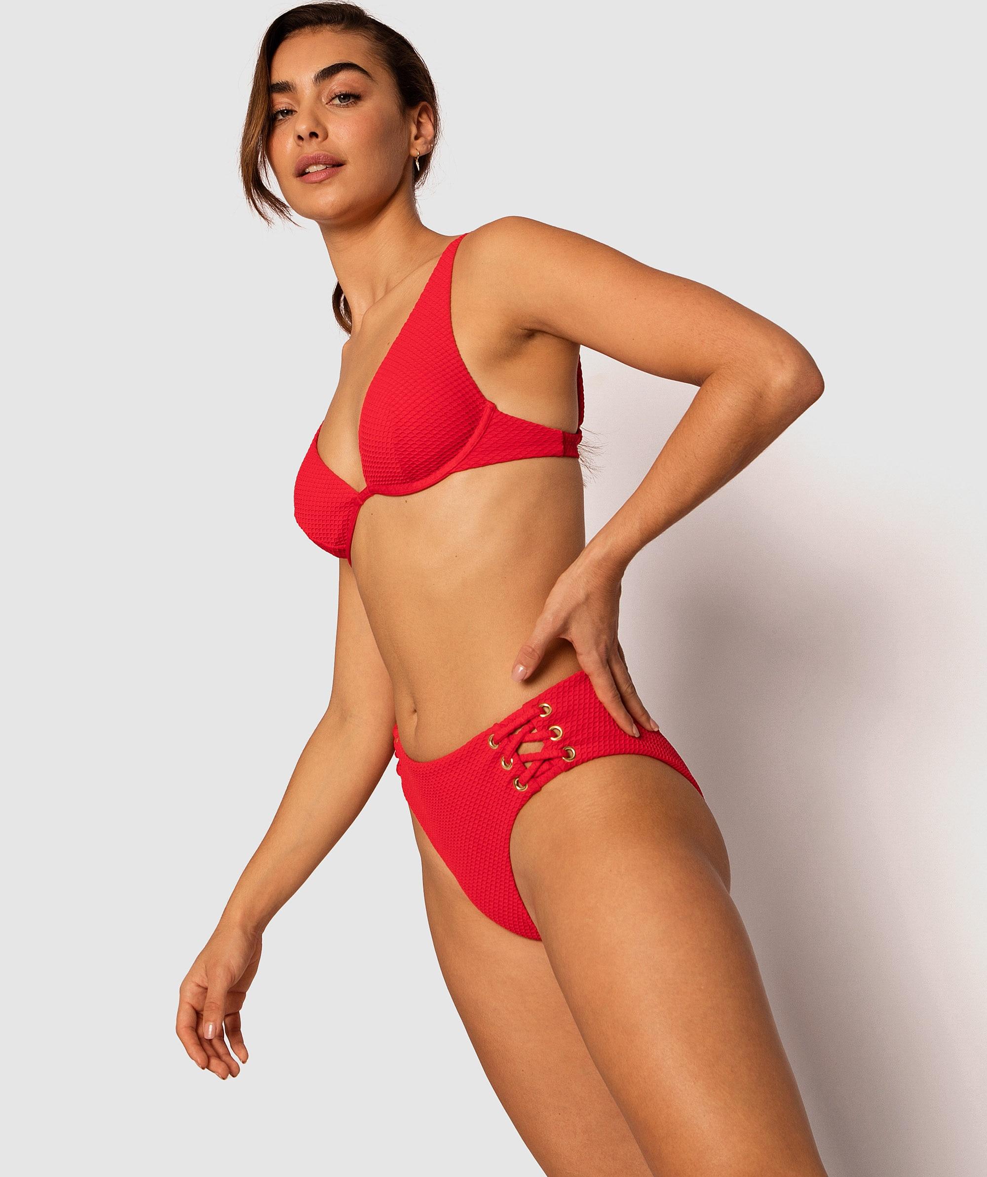 Vamp Bahamas Textured Swim High Pants - Red