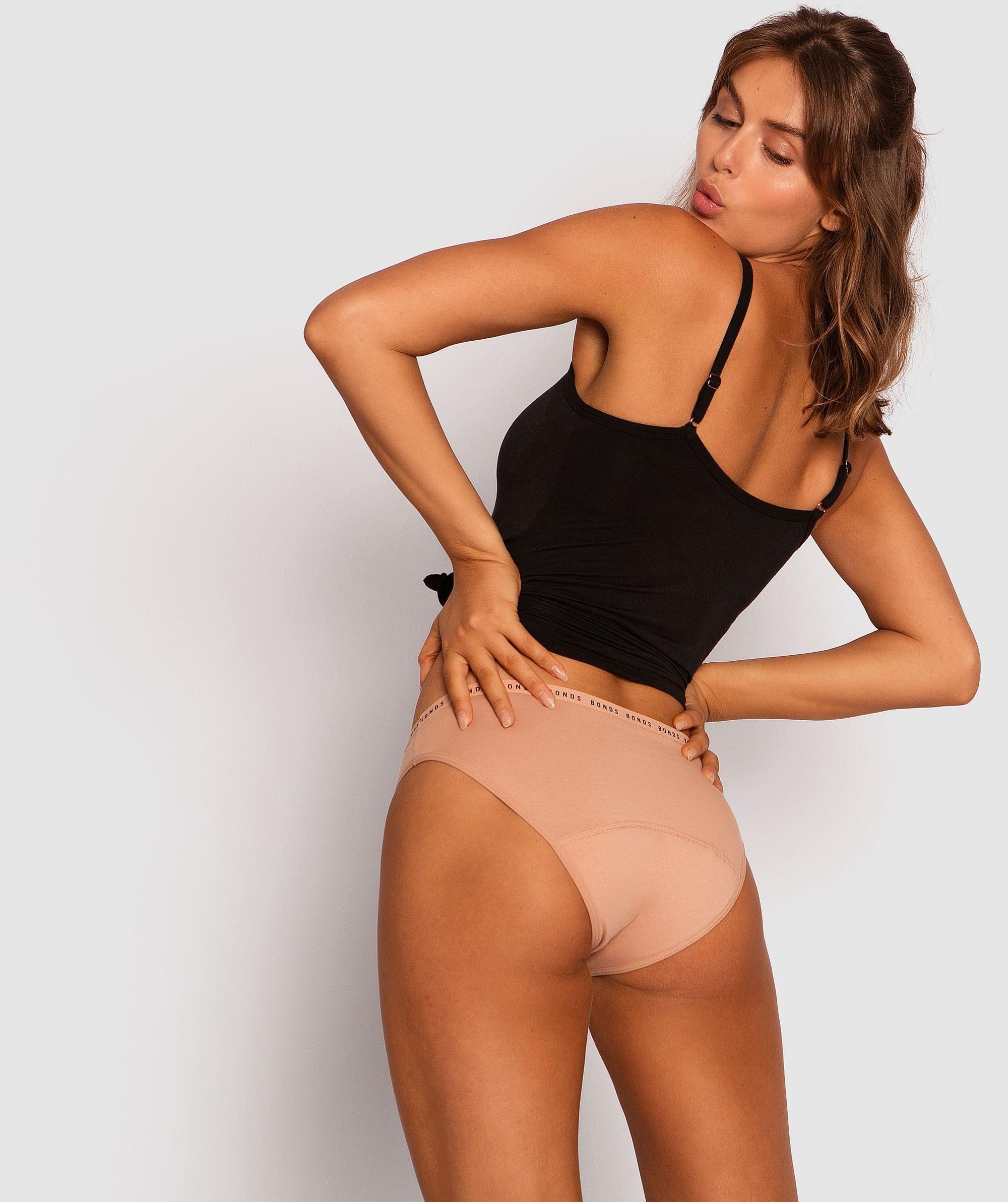 Bonds Bloody Comfy Period Undies Bikini Moderate - Blush Pink