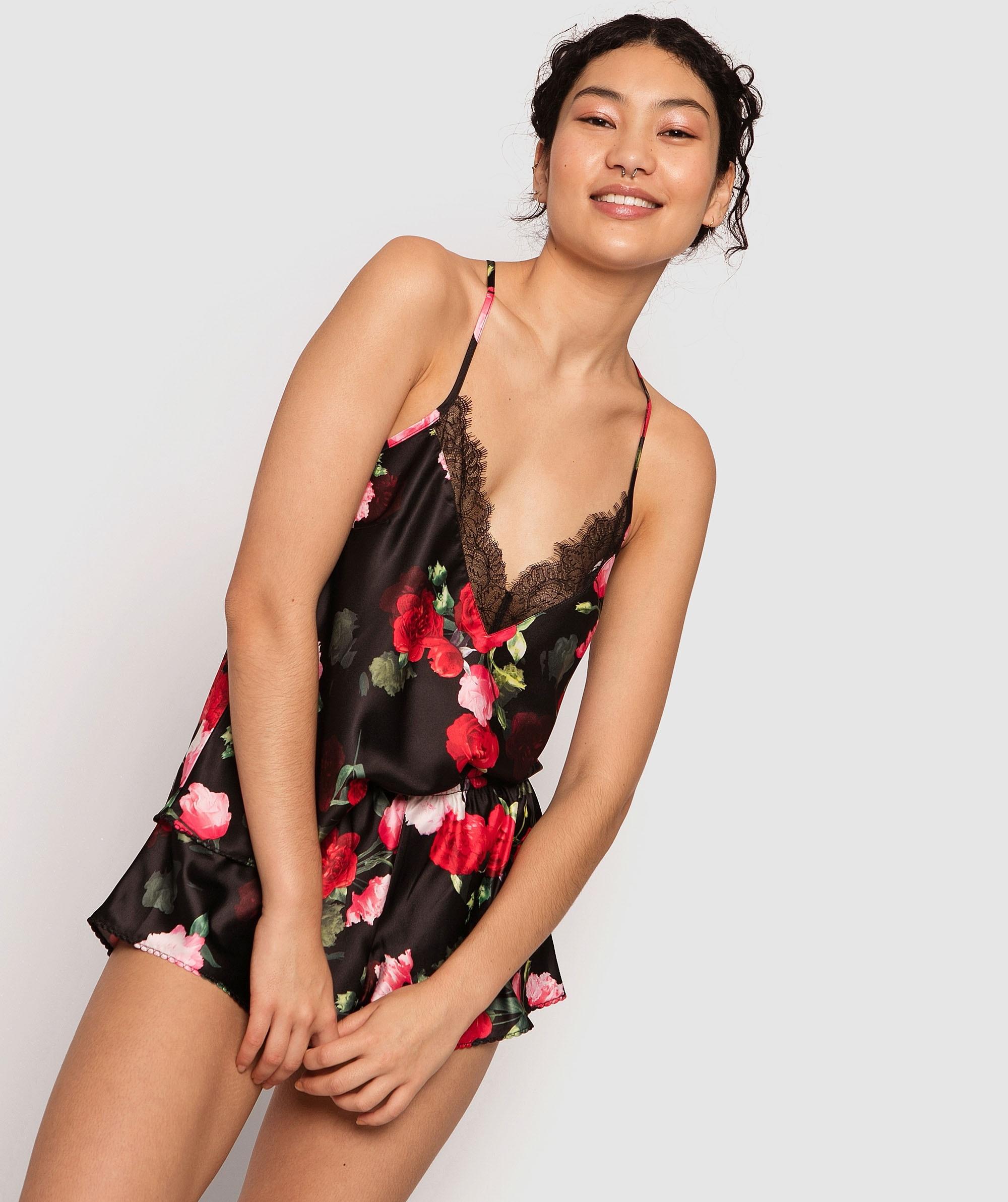 Rose Print Shorts - Floral Print