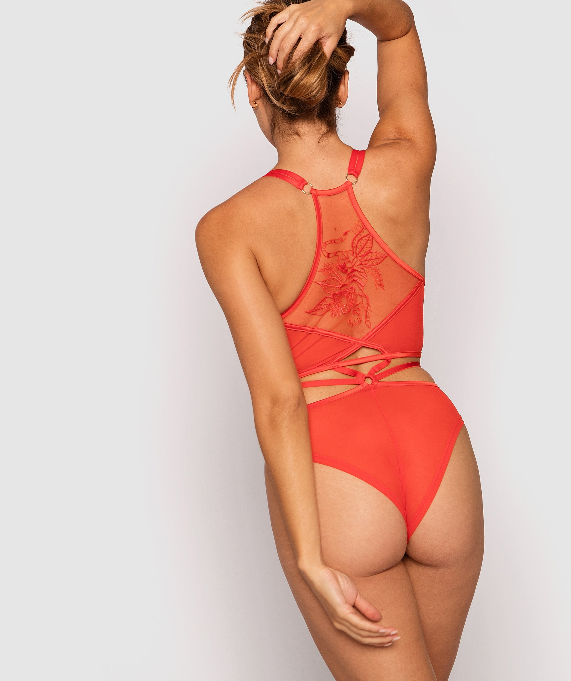 Vamp Wild Thoughts Bodysuit - Red/Nude