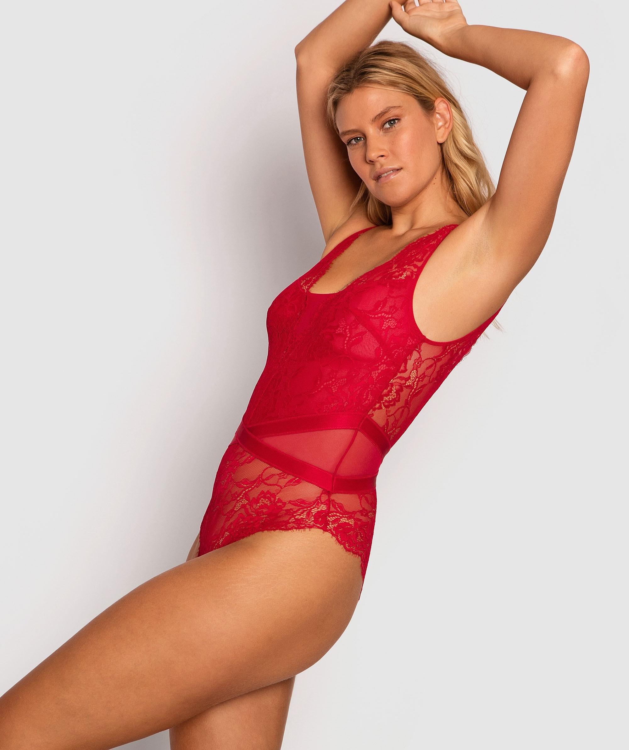 Sweet Nothings Bodysuit - Red