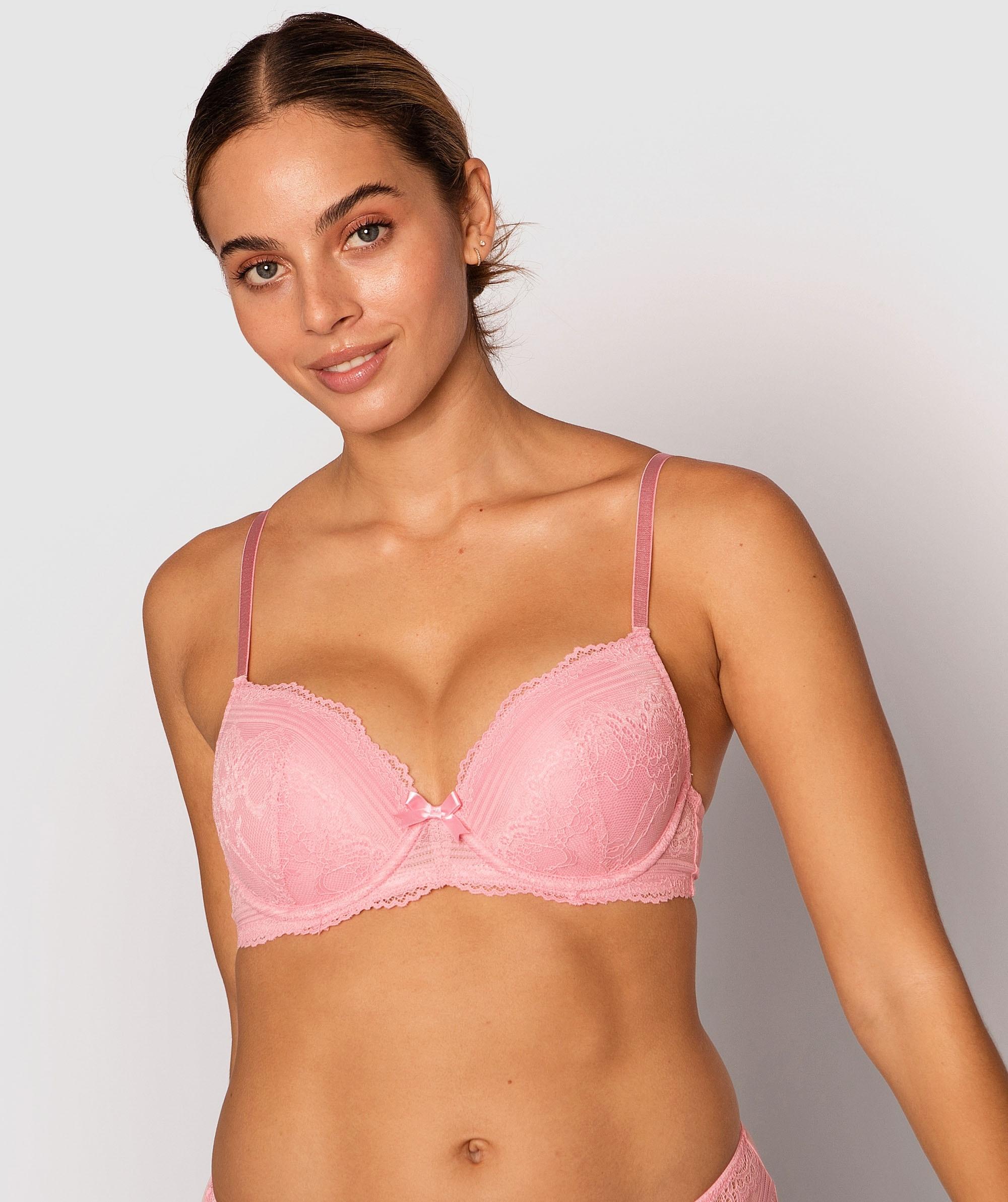 Olivia Plunge Contour Bra - Pink
