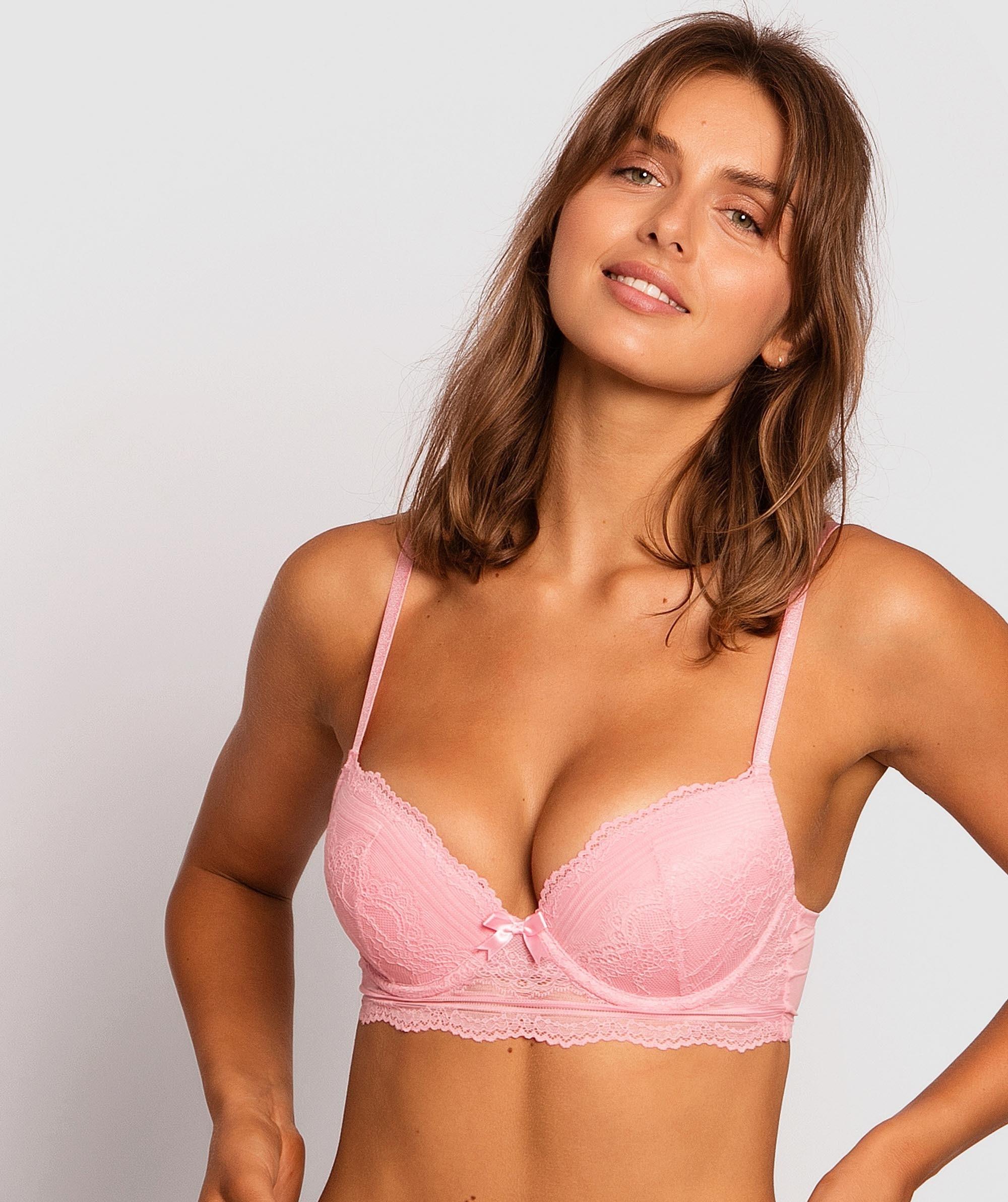 Olivia Push Up Bra - Pink
