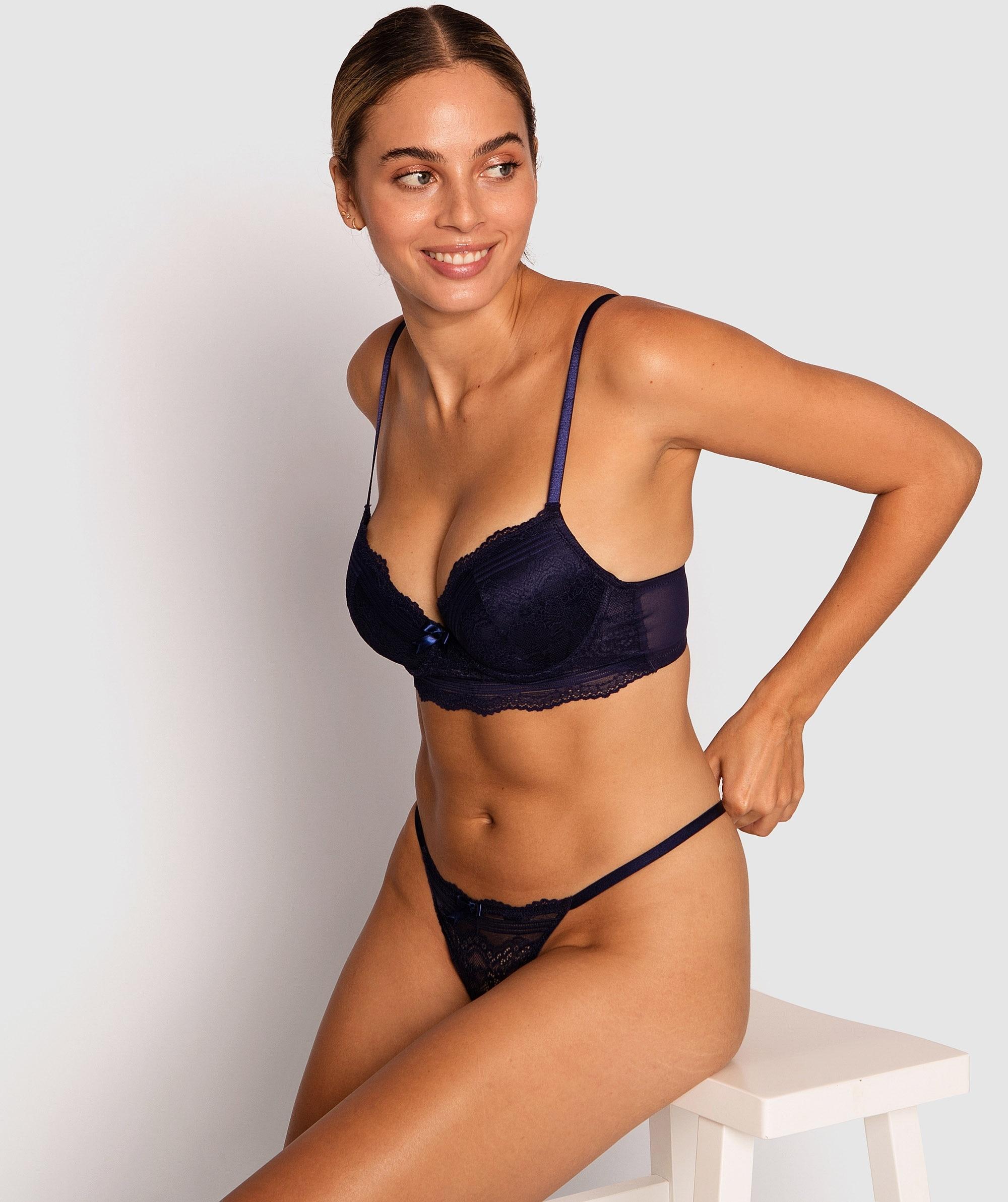 Olivia Push Up Bra - Navy