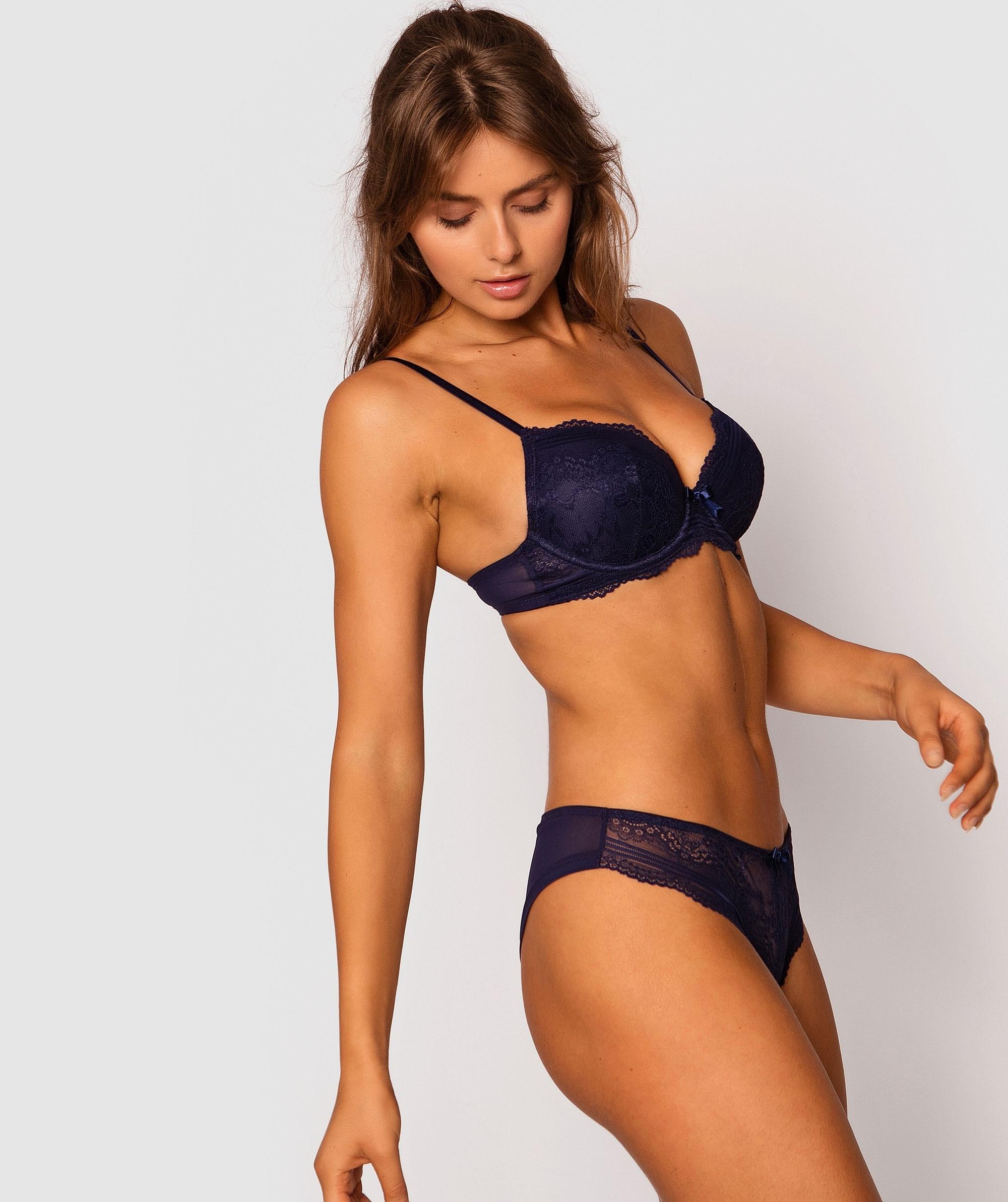 Olivia Brazilian Knicker - Navy