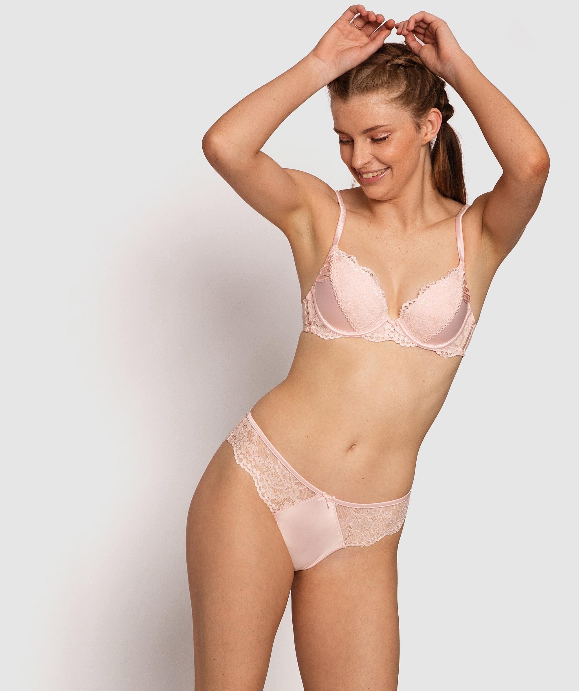Farran Brazilian Knicker - Light Pink