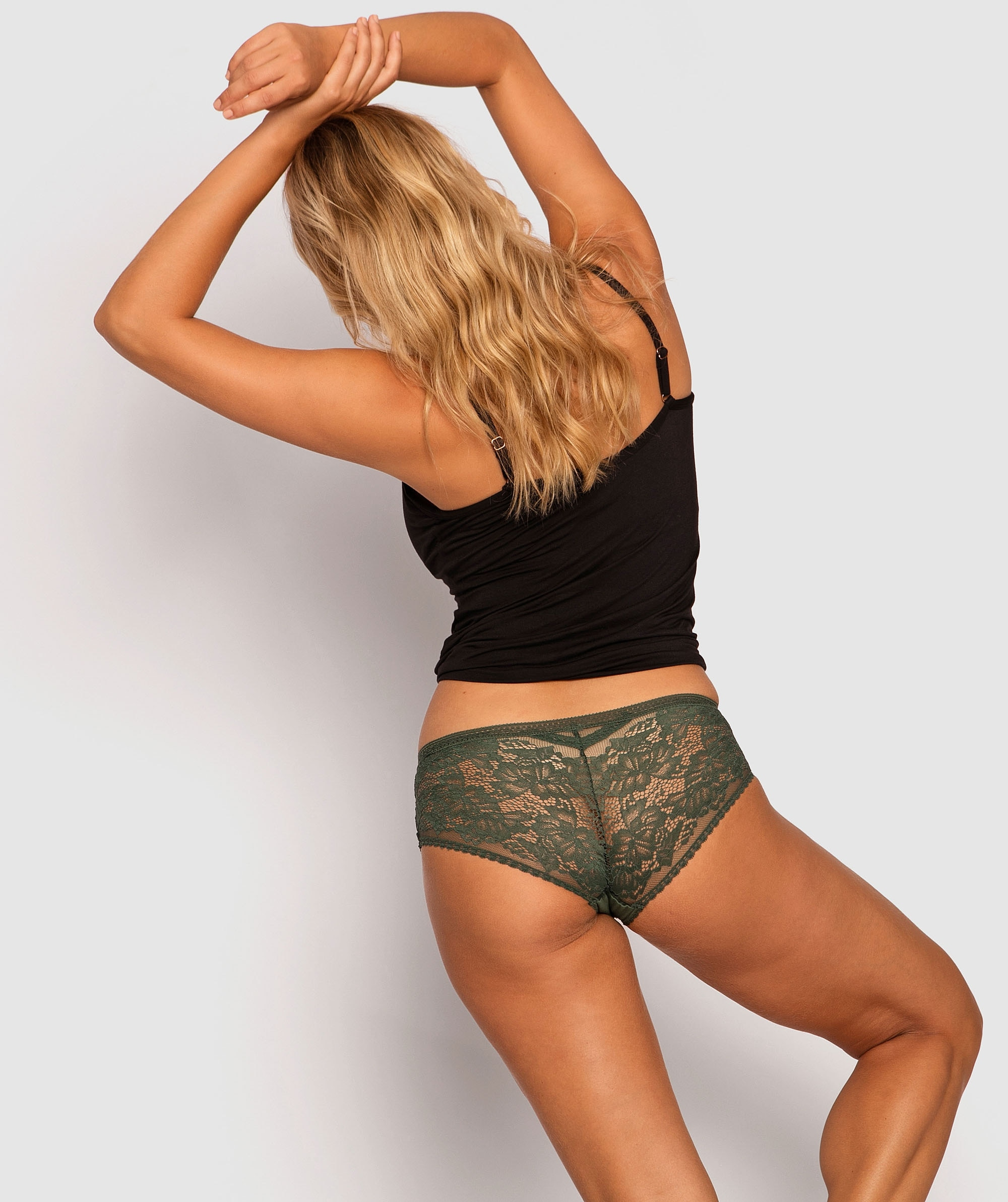 Ember Midi Brief Knicker - Dark Green