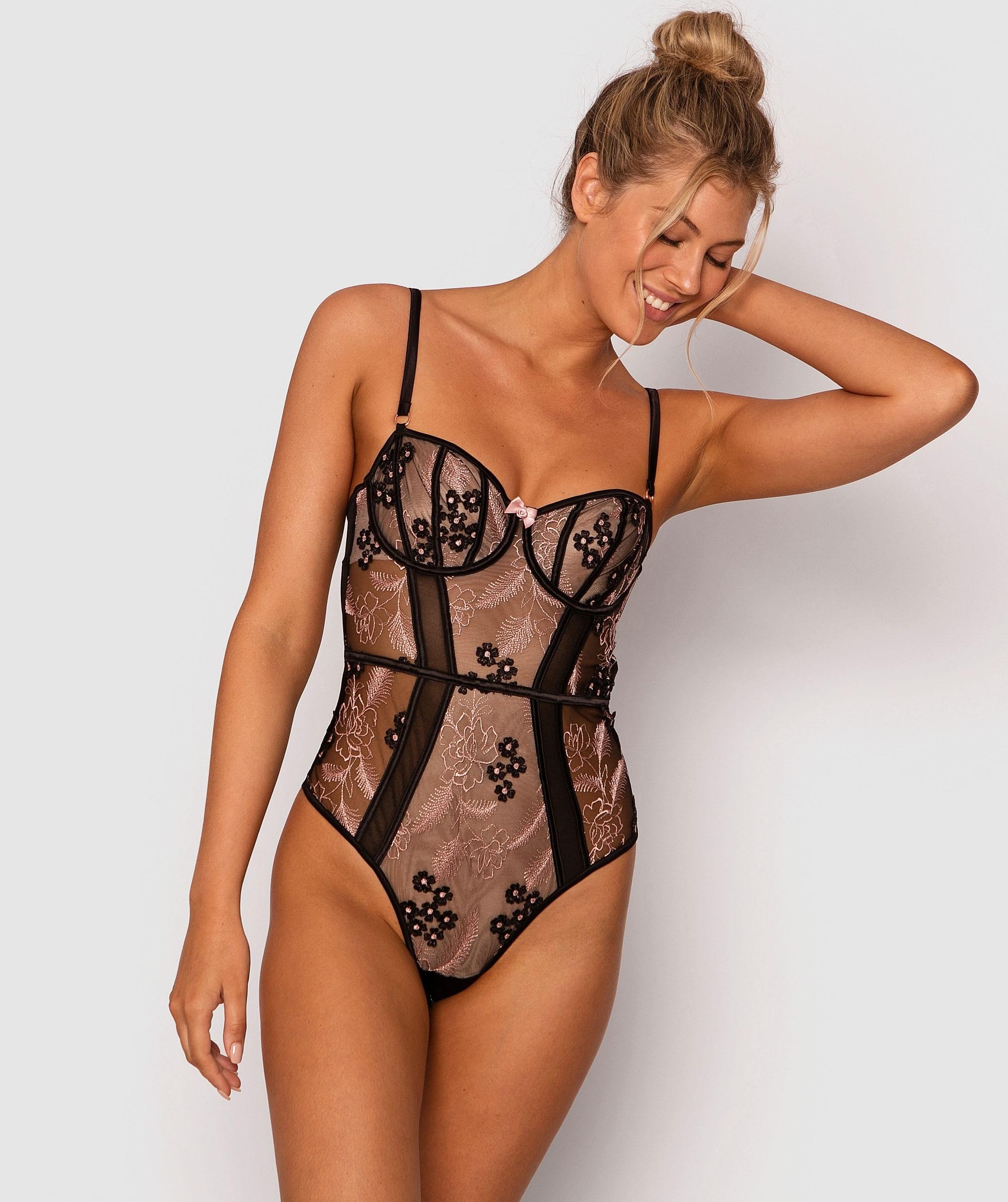 Enchanted Orleans Bodysuit - Black/Rose Gold
