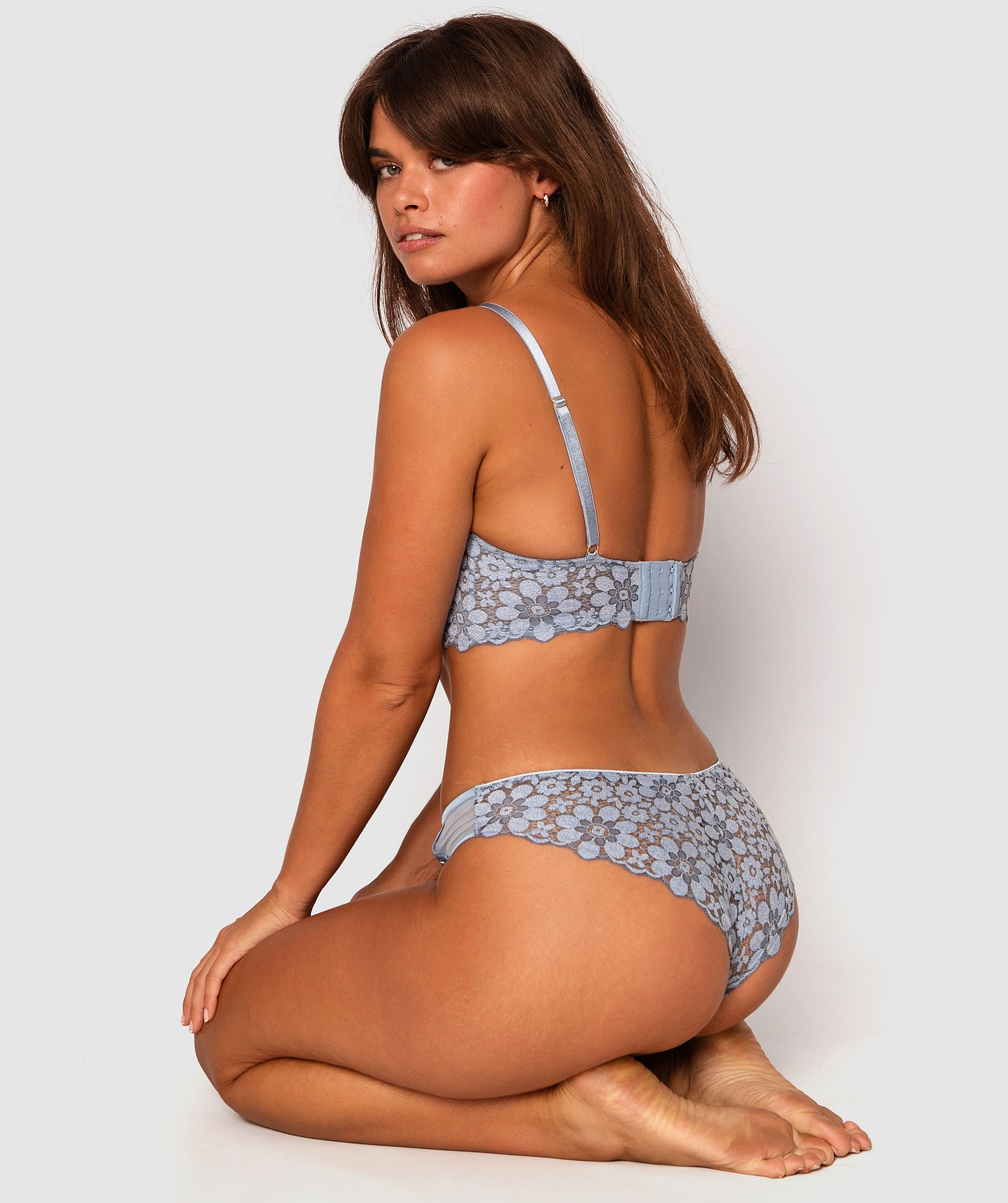 Melody Brazilian Knicker - Light Blue