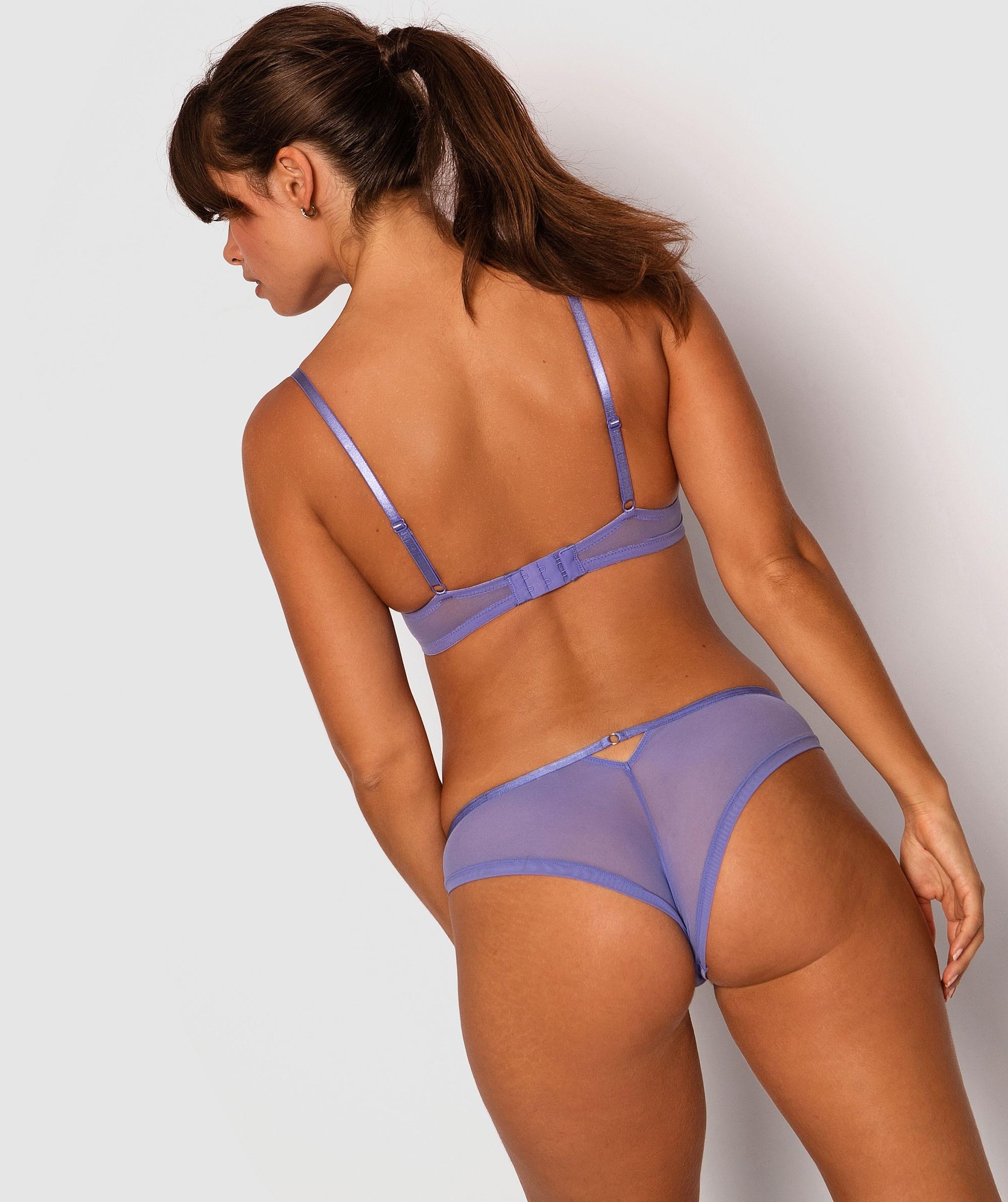 Gemma Brazilian Knicker - Cobalt Blue