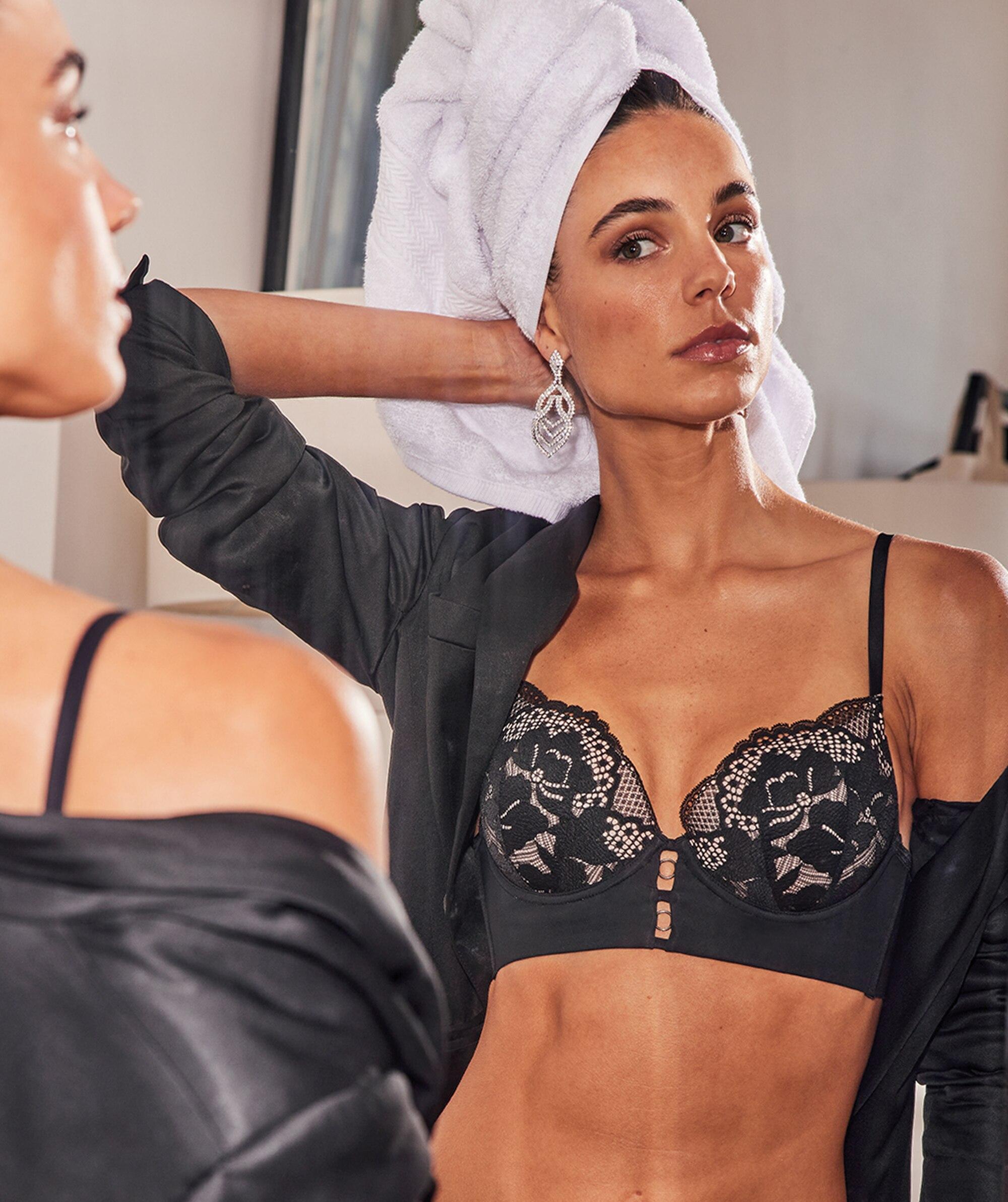 Fashion Sensations Contour Bra - Black/Nude