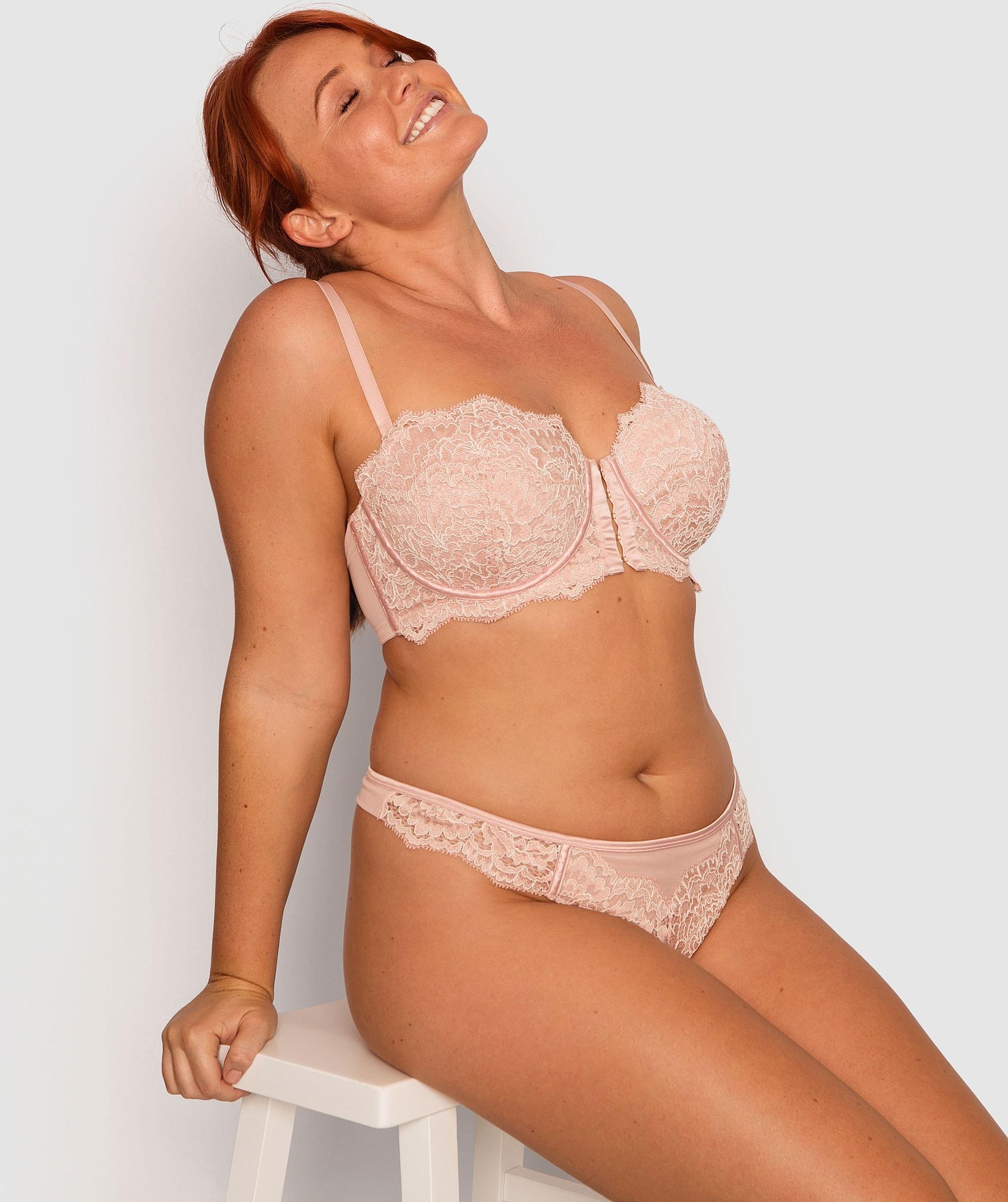 Roxanne Contour Bra - Light Pink/White