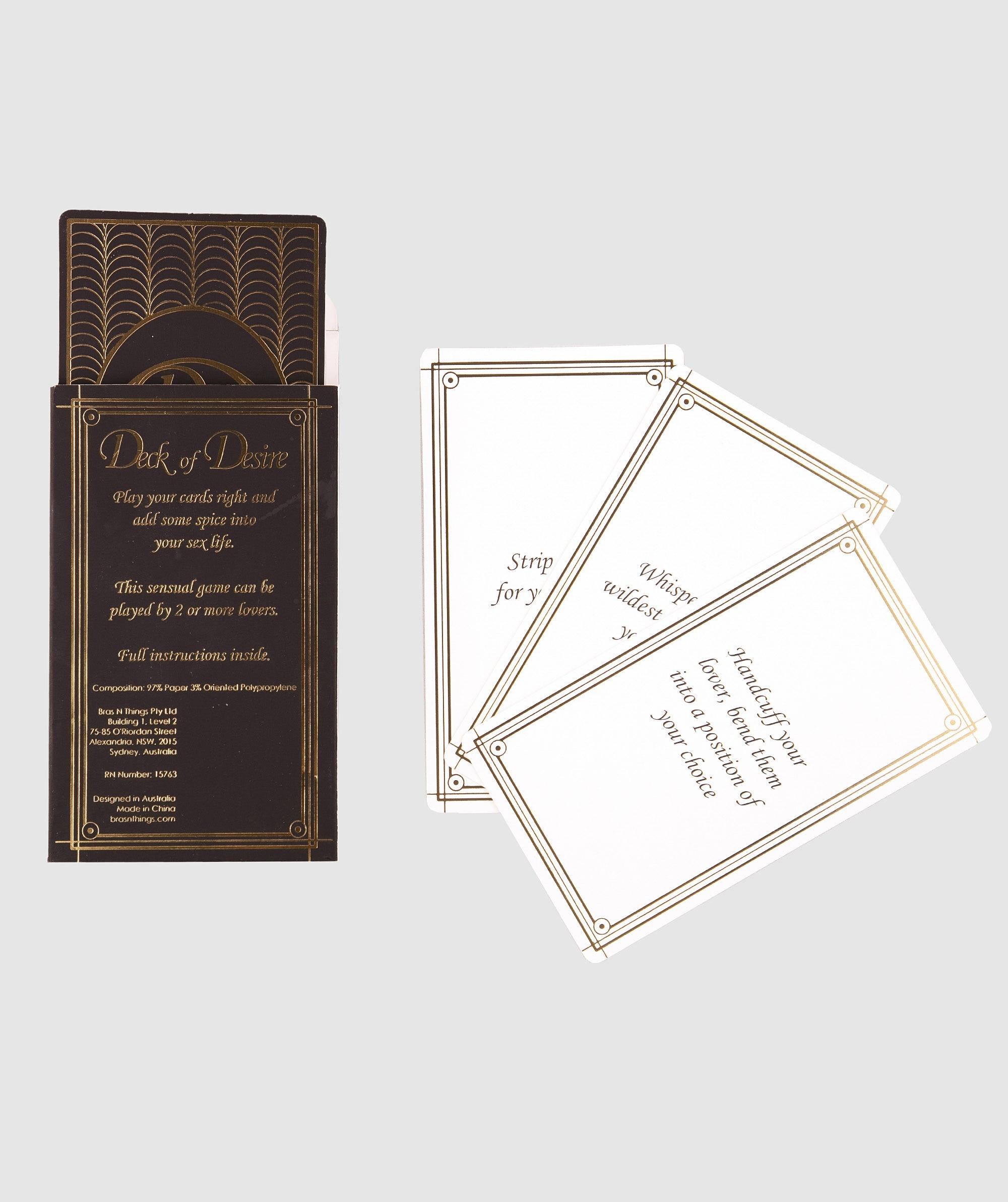 Deck Of Desire Card Game - Black/Rose