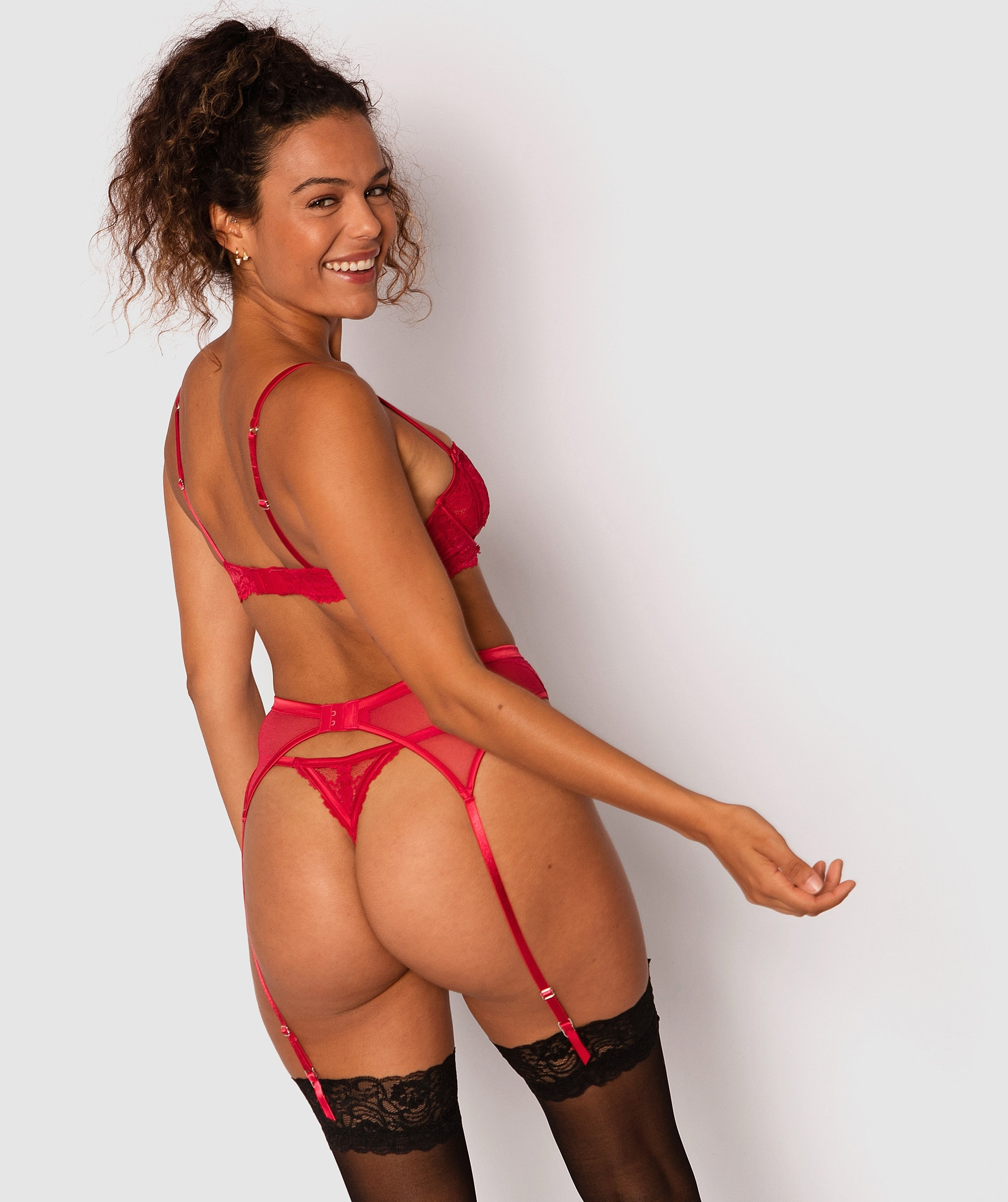 Bethany Suspender - Red
