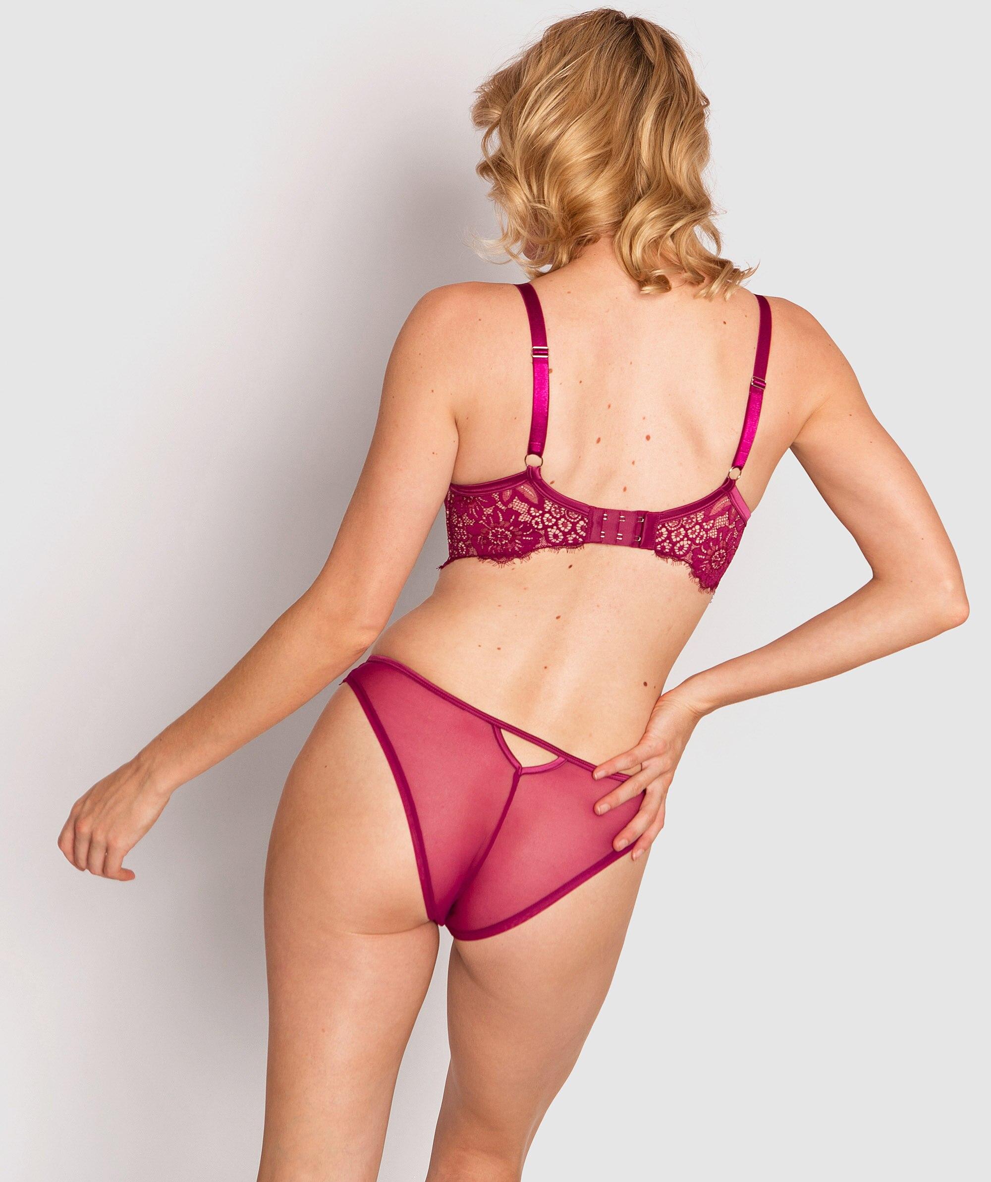 Indulge Me High Waist V String Knicker - Pink/Nude