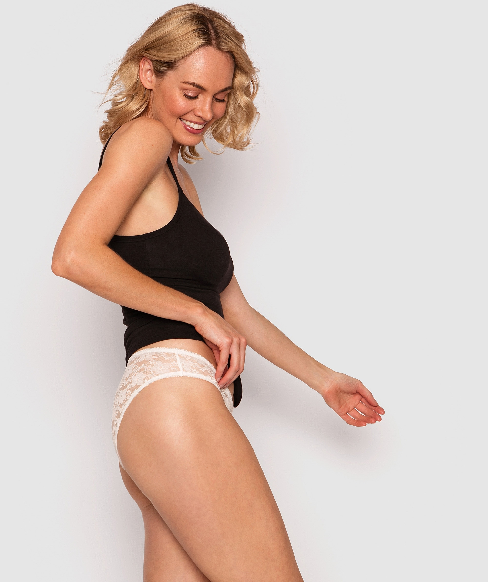Katie Bikini Knicker - White
