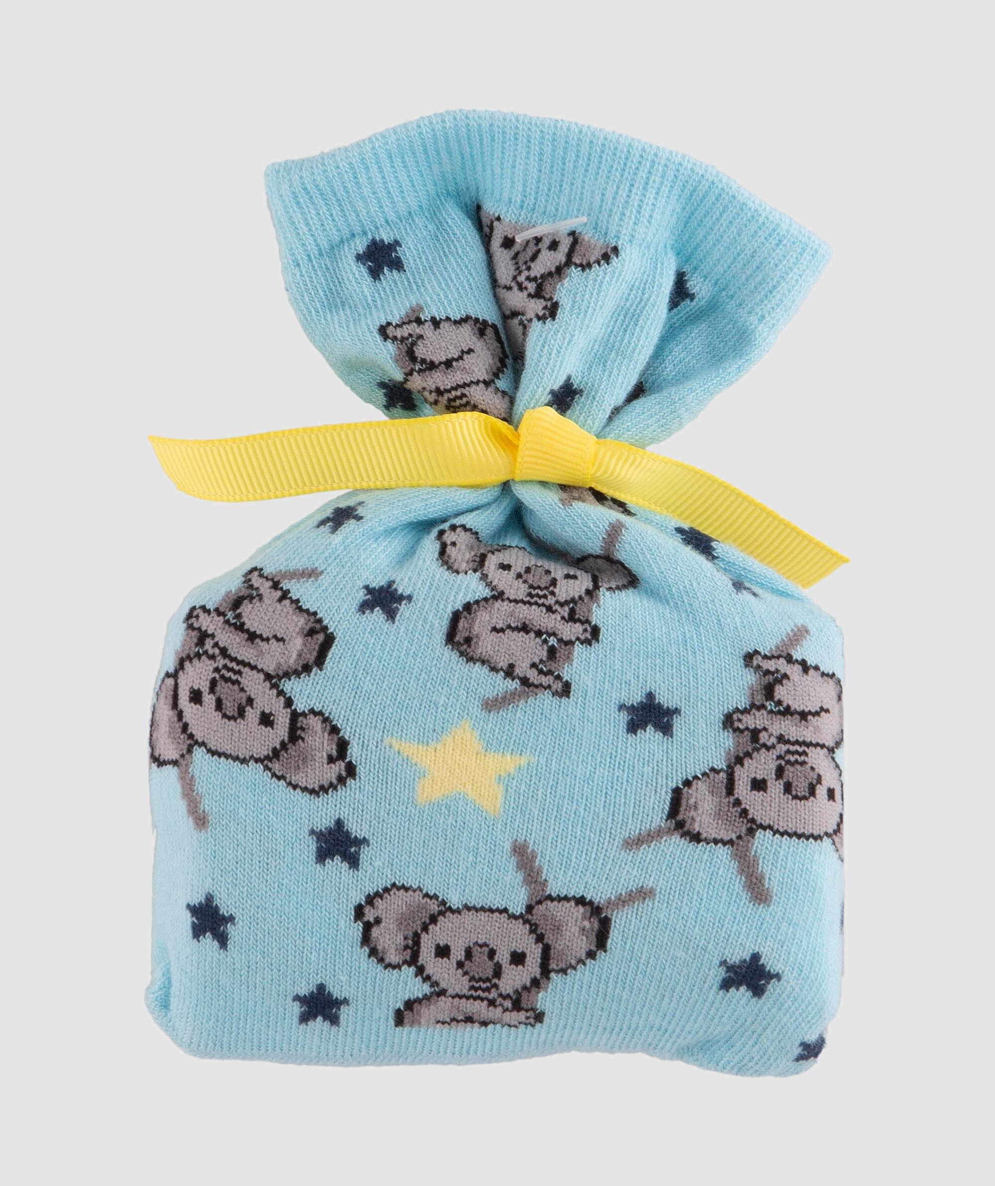 Socks In A Bag Koala - Blue/Grey