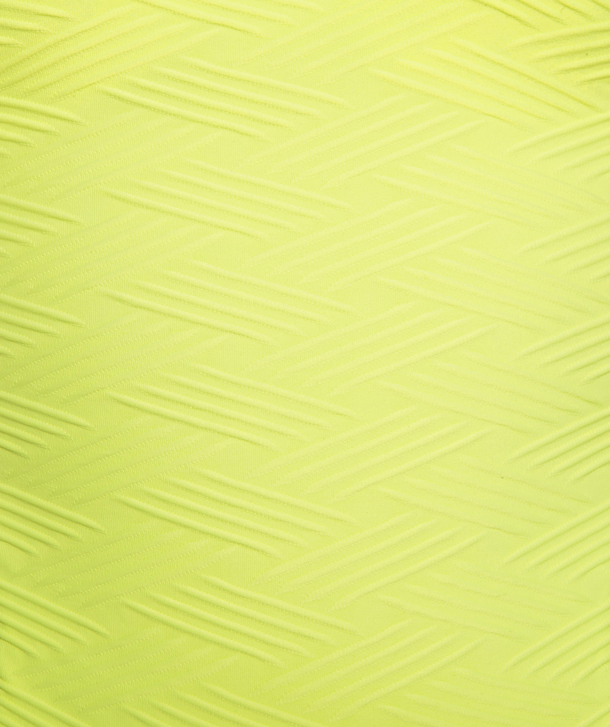 Vamp Vixen Plunge One Piece Swimsuit - Light Yellow
