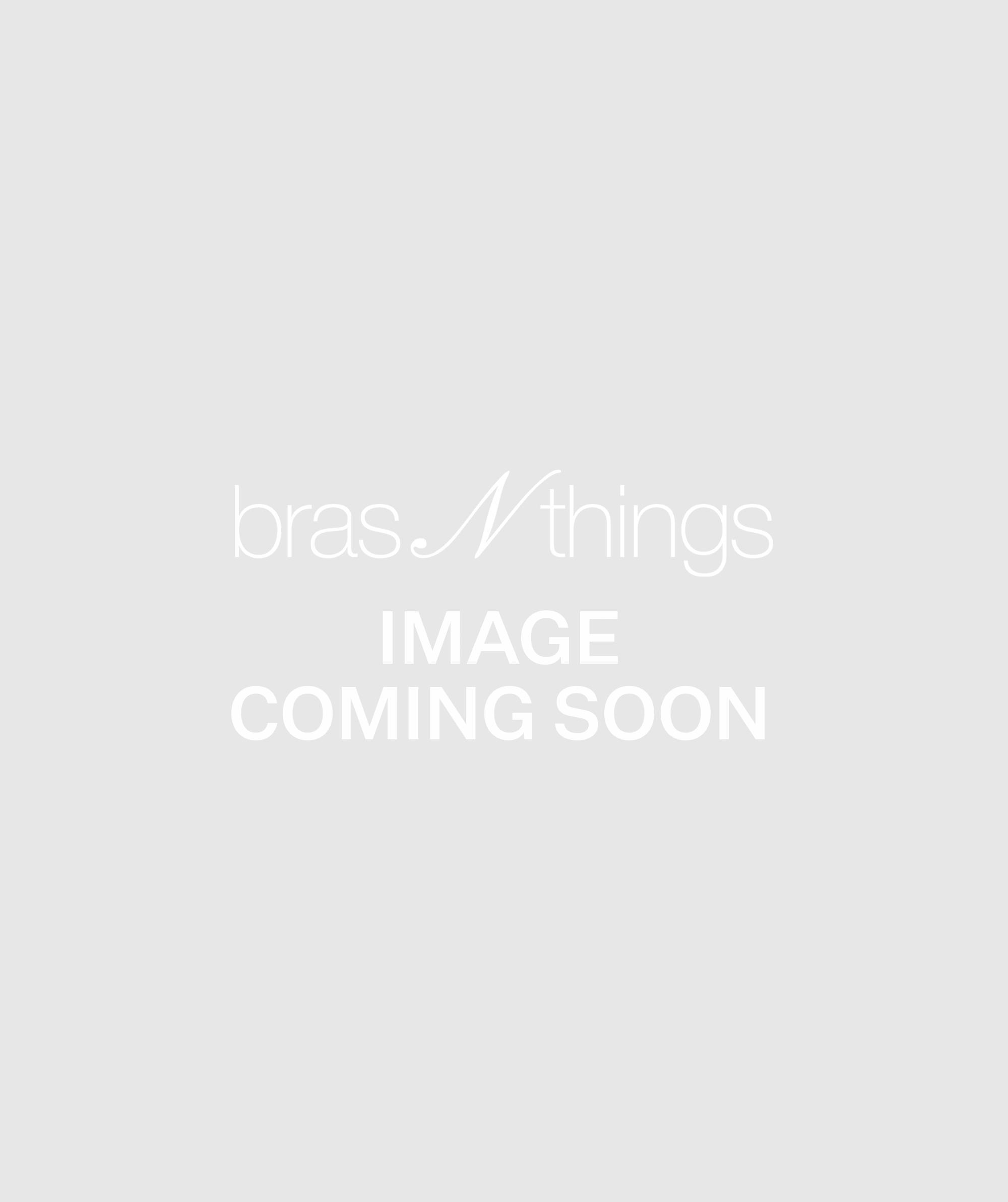 Pleat Retro V String Knicker - White
