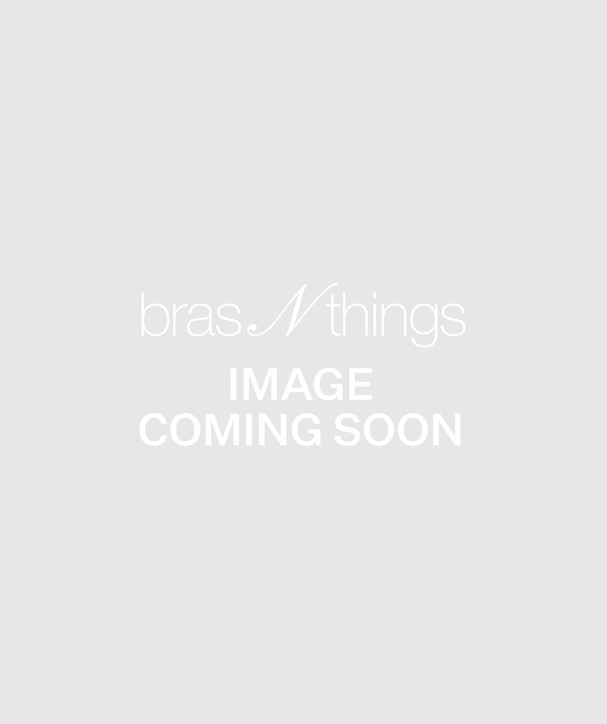 Metric Lace V String Knicker - Navy