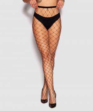 Wide Fishnet Stockings - Black