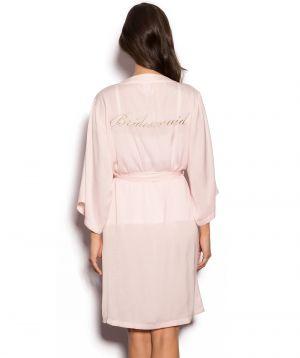 Bridesmaid Wrap - Blush Pink/Gold