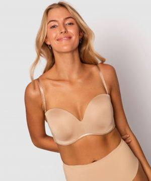 Inner Essence Full Cup Strapless Bra - Nude