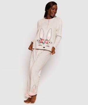 Lush Fleece Bunny Long Pants - Grey