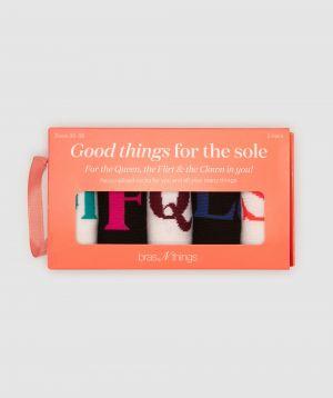 I Am Many Things Socks Gift Packs - White/Multi Colour