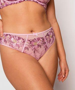 Enchanted Tuscany High Waisted V String Knicker - Lilac/Purple