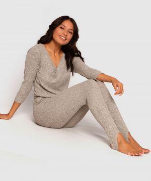 Barre Stirrup Legging - Grey