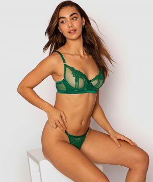 Tabitha Underwire Long line Bra - Green