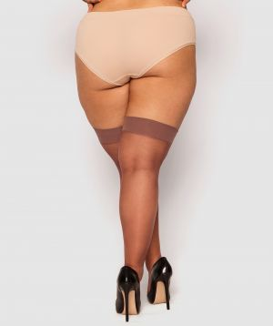 Curvy Smooth Top Stay Up Stockings - Nude 6