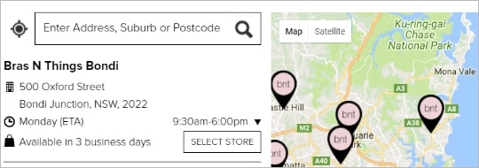 Step 2, Select click and collect in the checkout